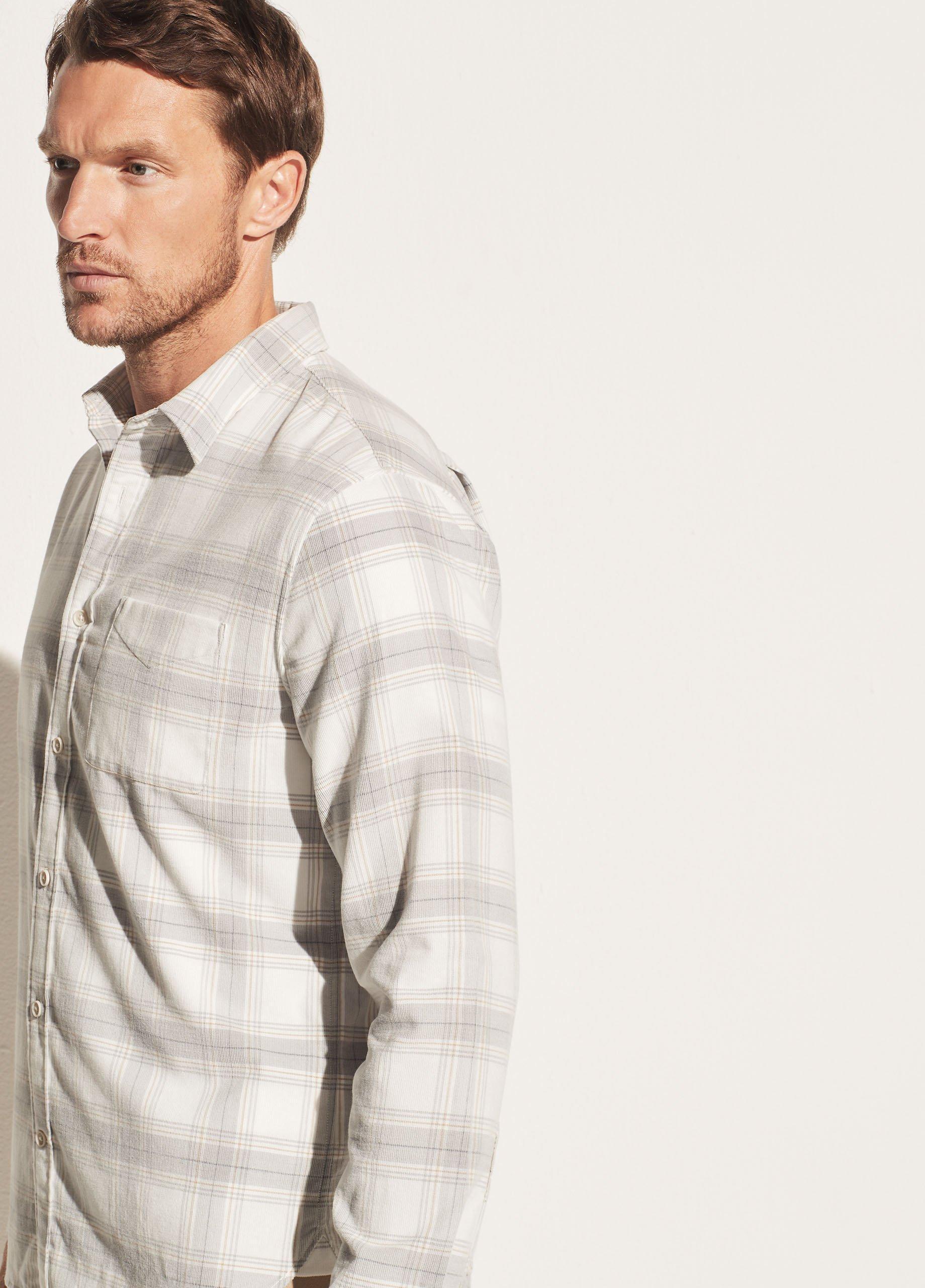Corduroy Plaid Long Sleeve