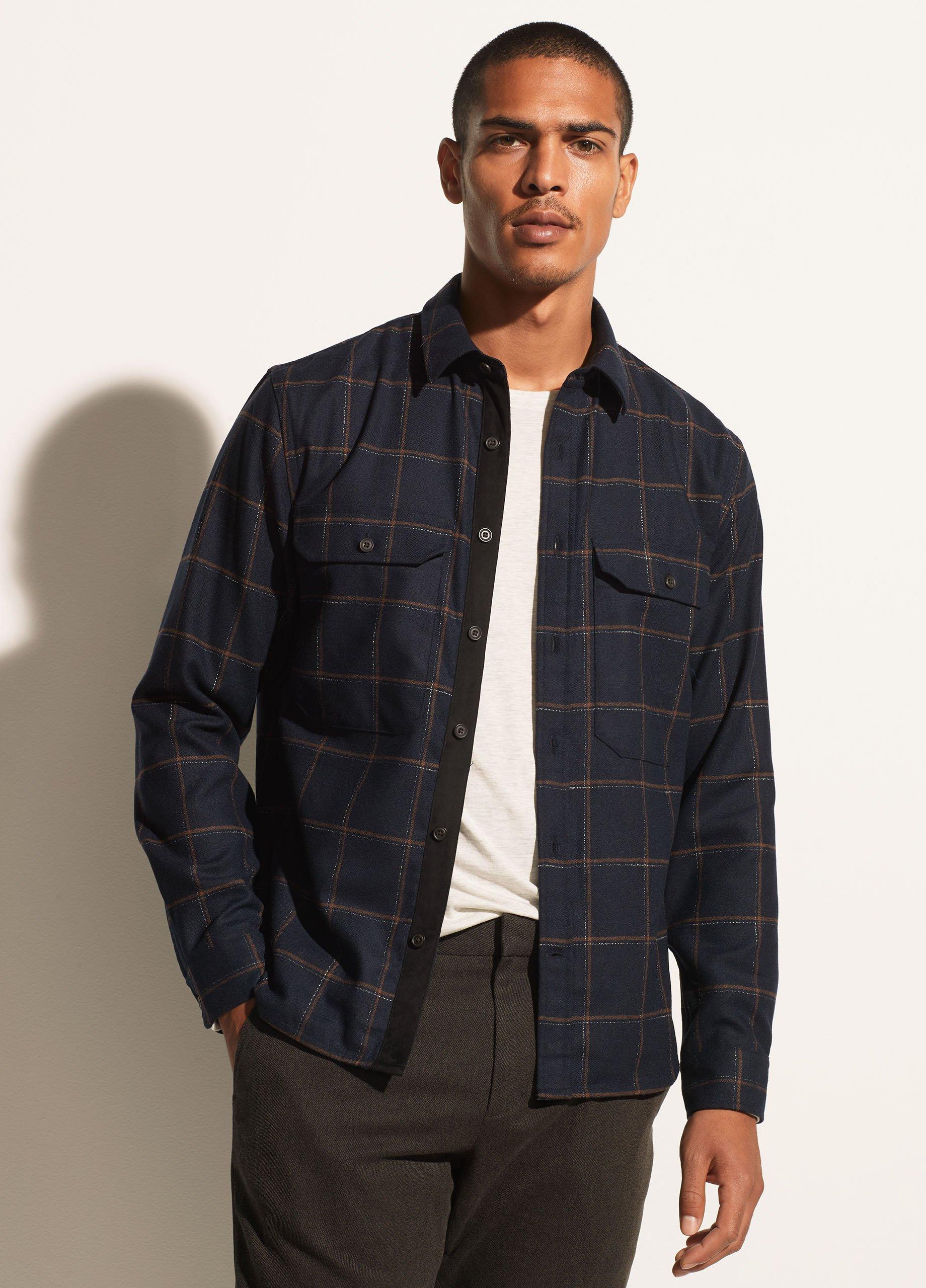 Crosshatch Windowpane Shirt Jacket