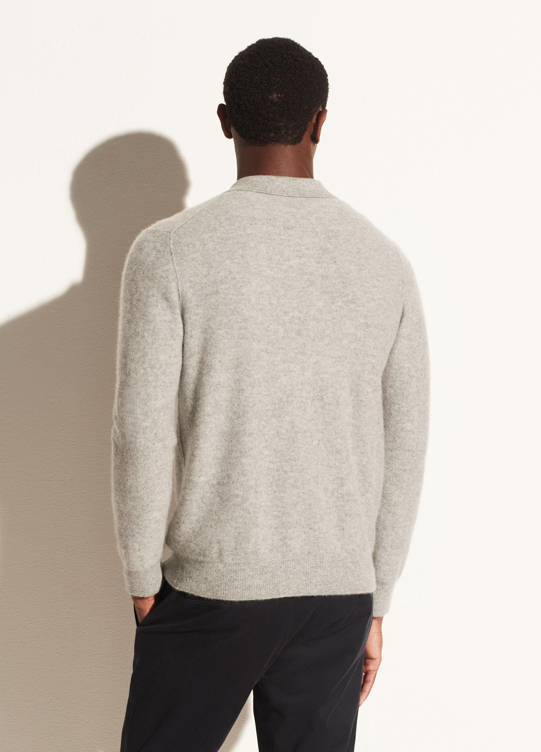 Boiled Cashmere Johnny Collar
