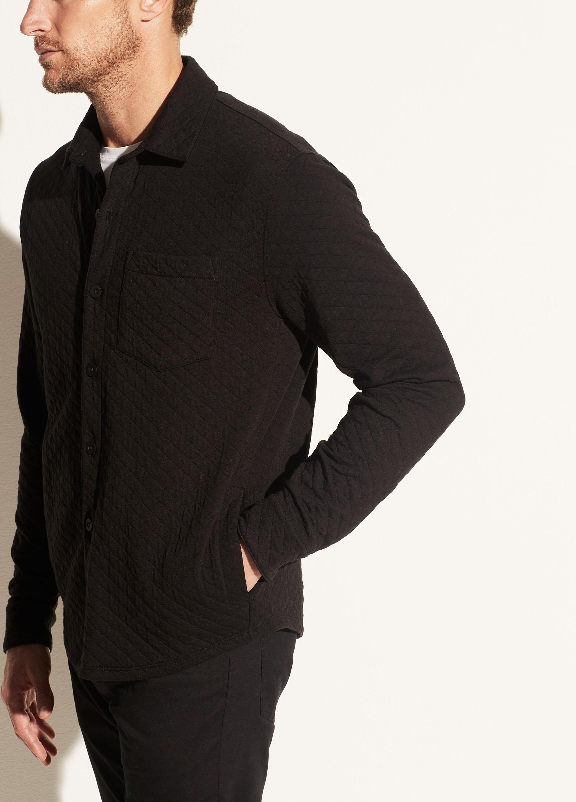 Quilted Double Knit Shirt Jacket