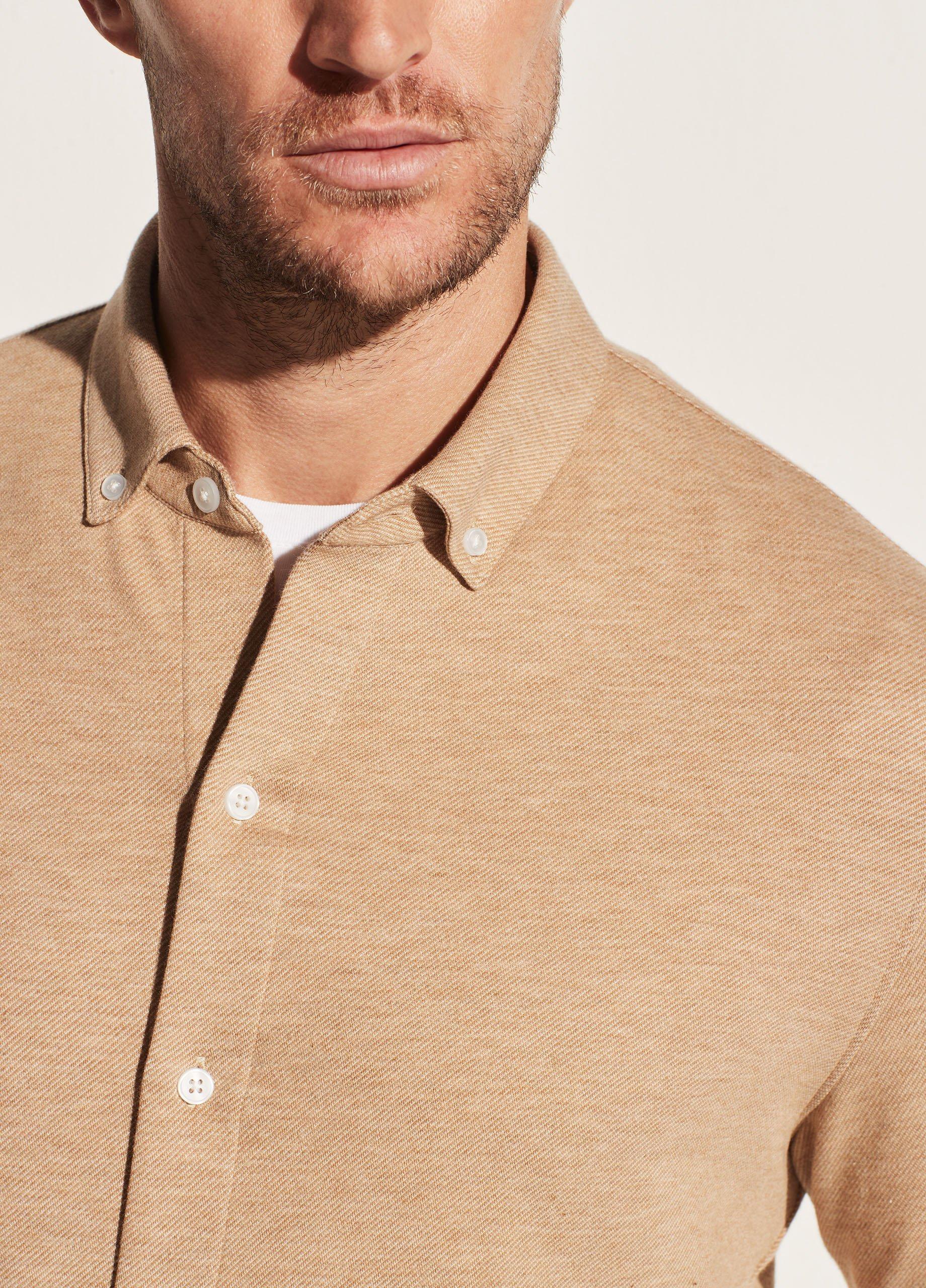 Cotton Cashmere Twill Button Down