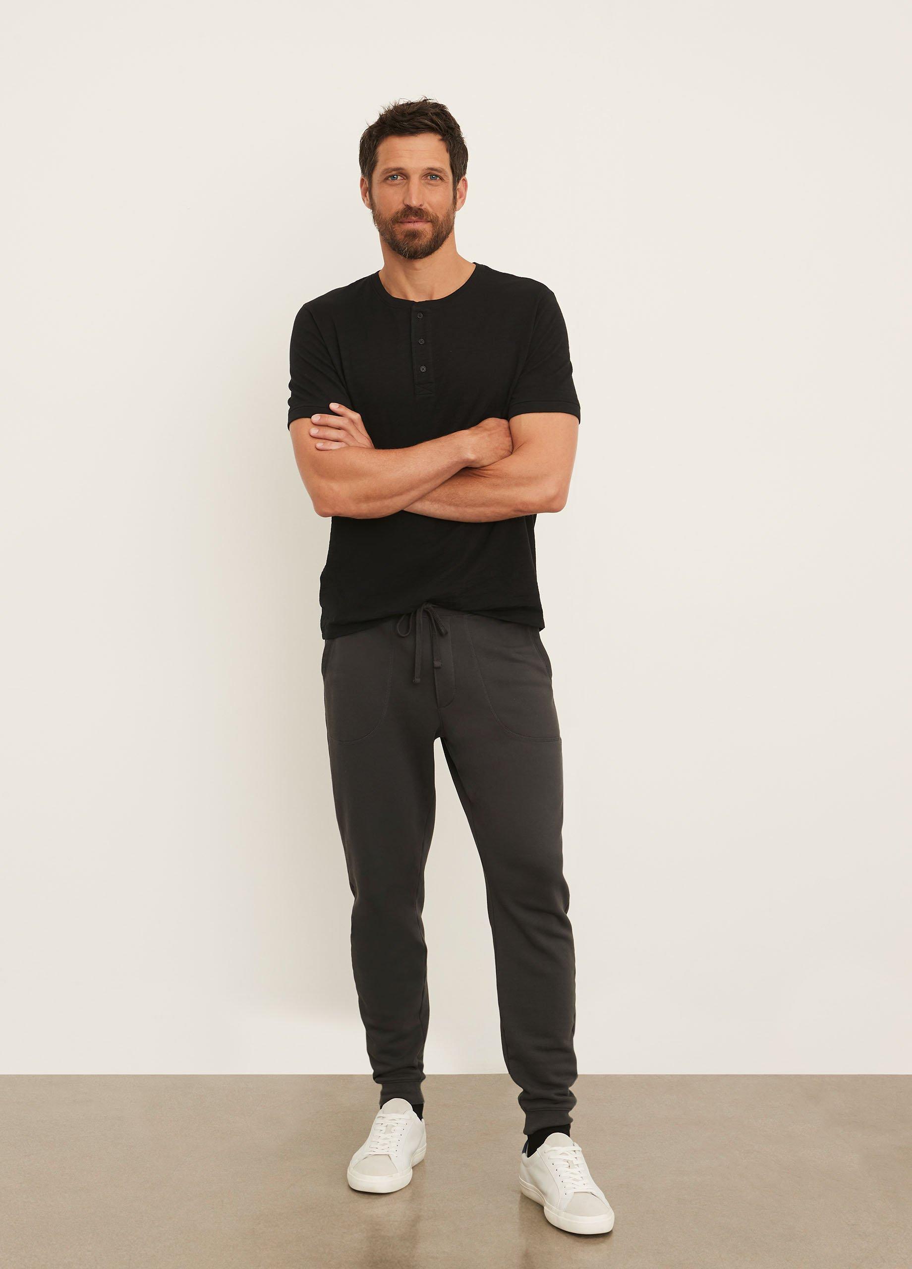 Slub Cotton Short Sleeve Henley