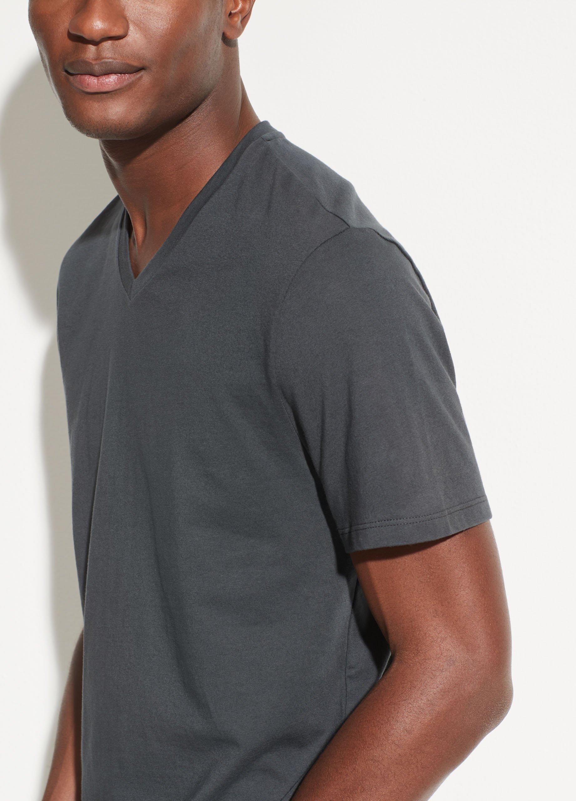 Garment Dye Short Sleeve V-Neck