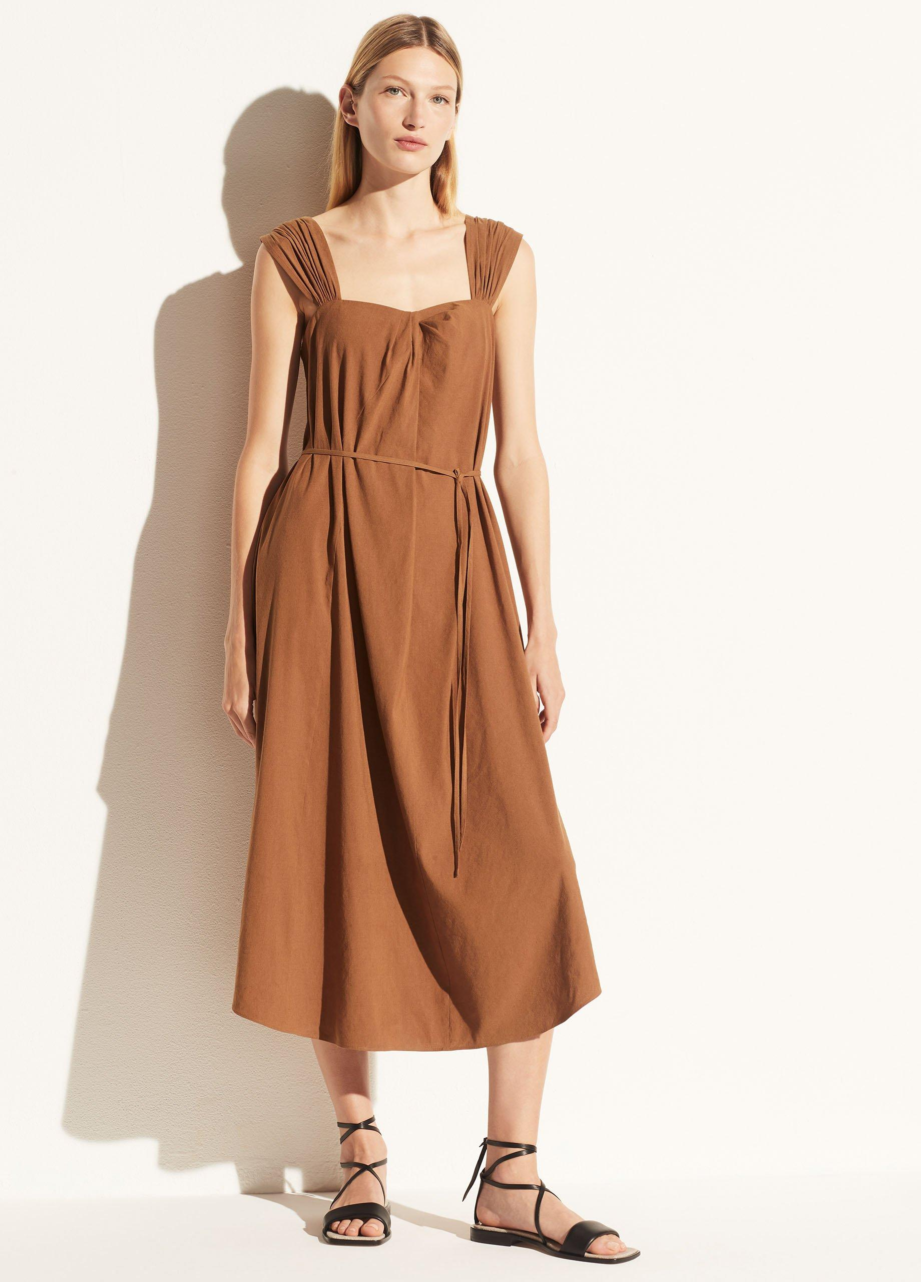 Poet Strap Knot Front Dress