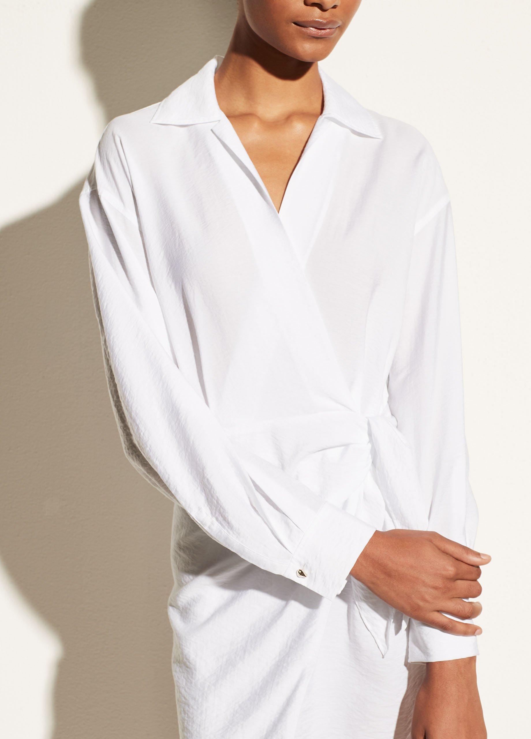 Long Sleeve Wrap Shirt Dress