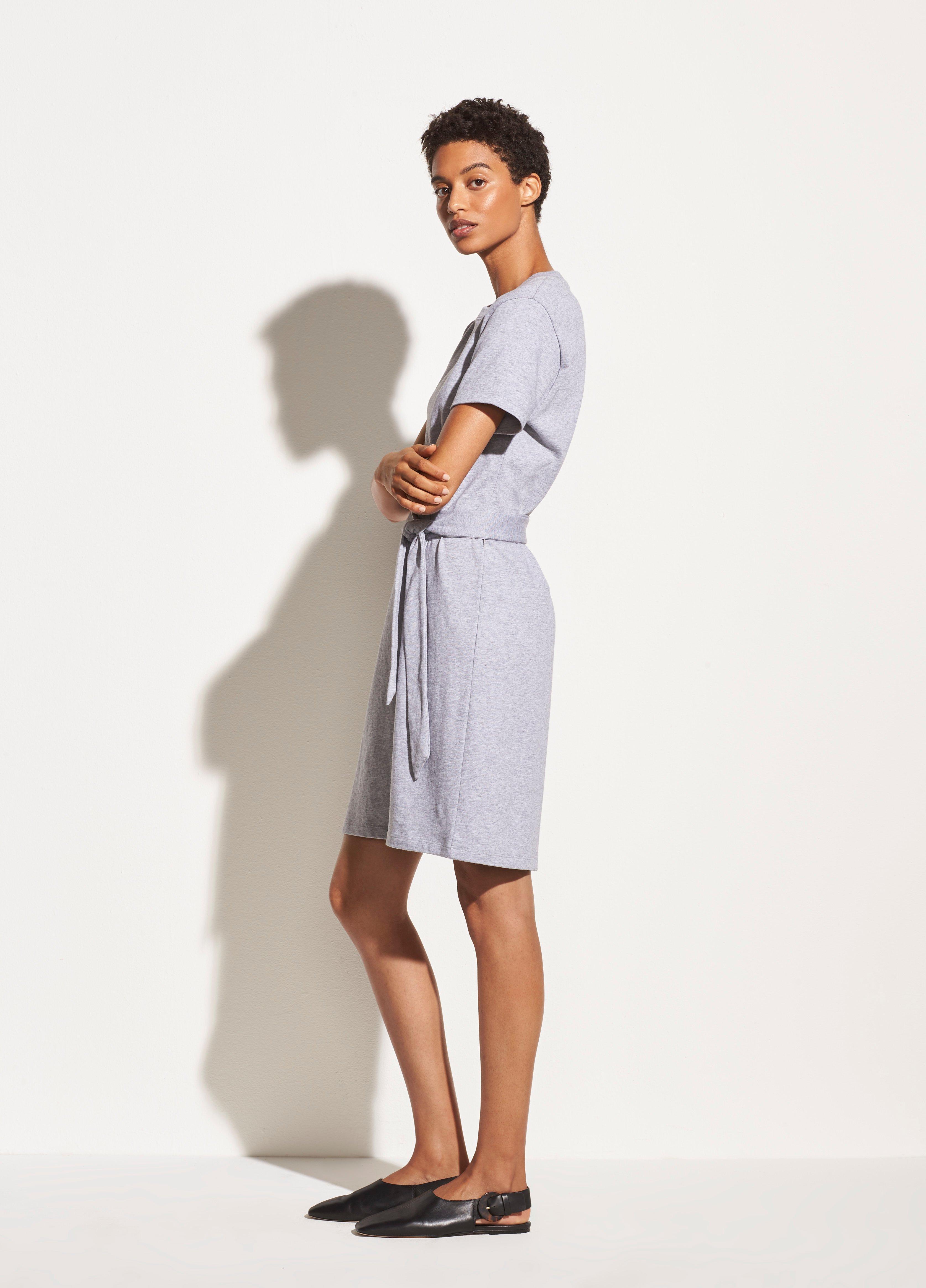 Short Sleeve Waist Tie Dress