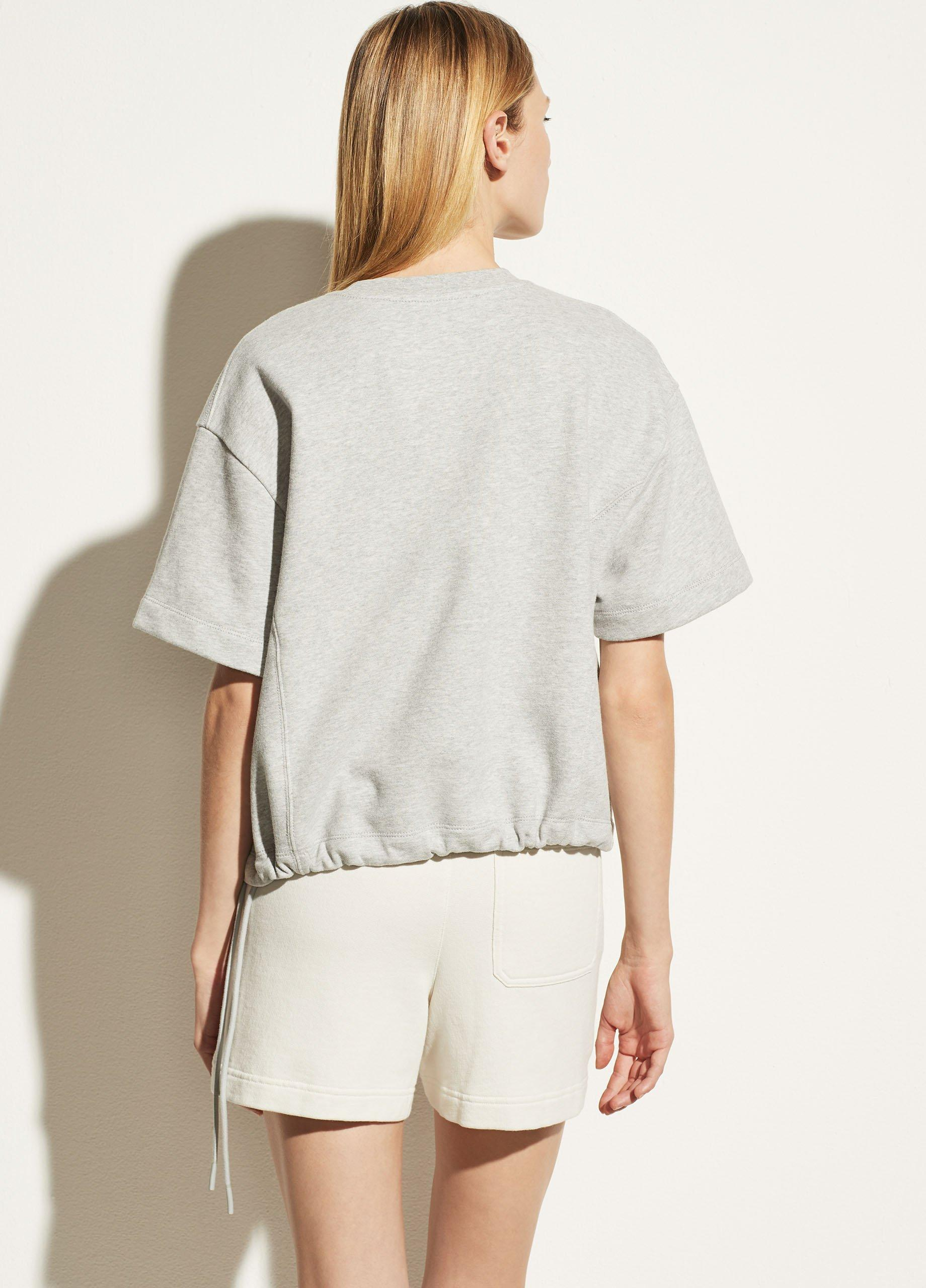 Wide Sleeve Drawcord Pullover