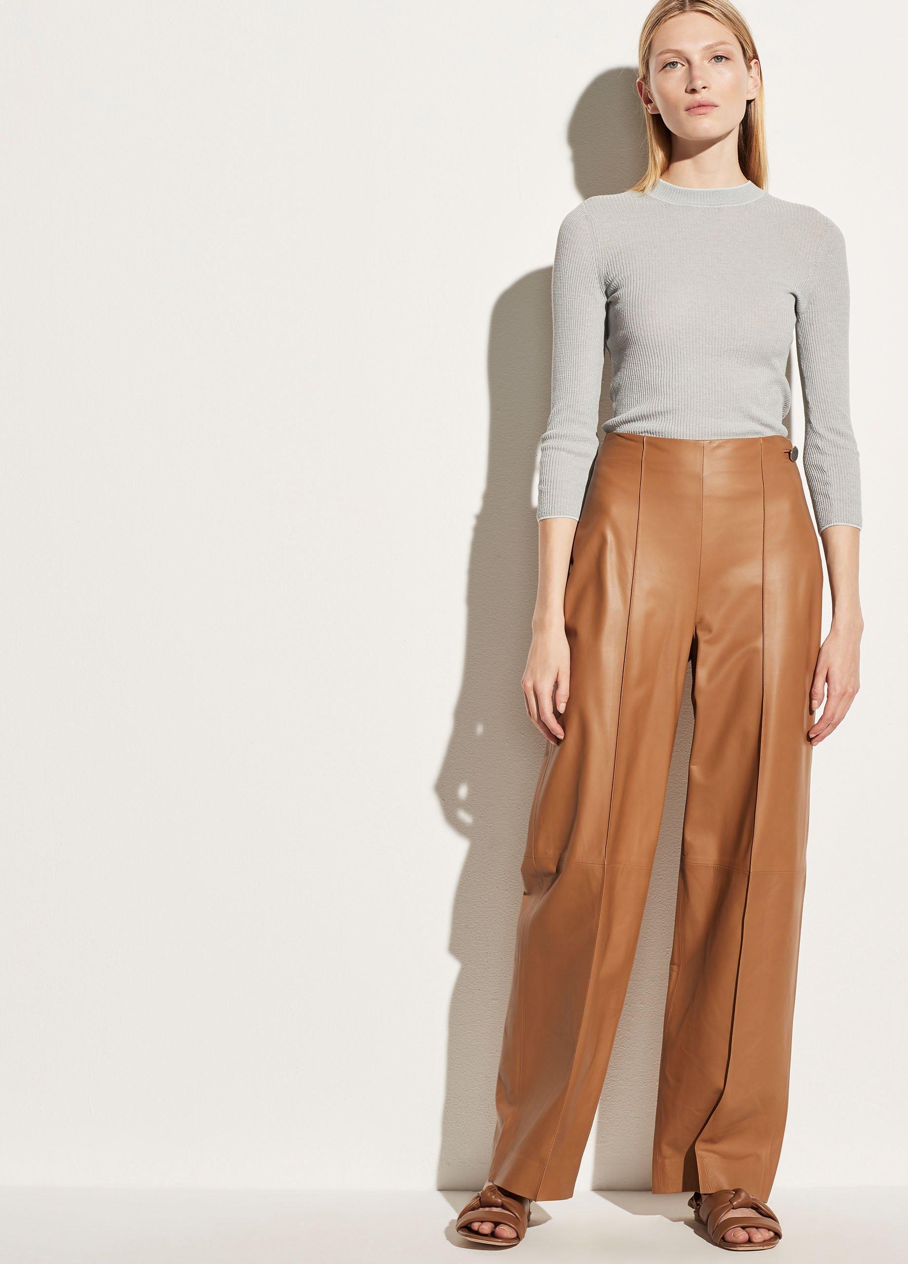 Leather Straight Leg Pant