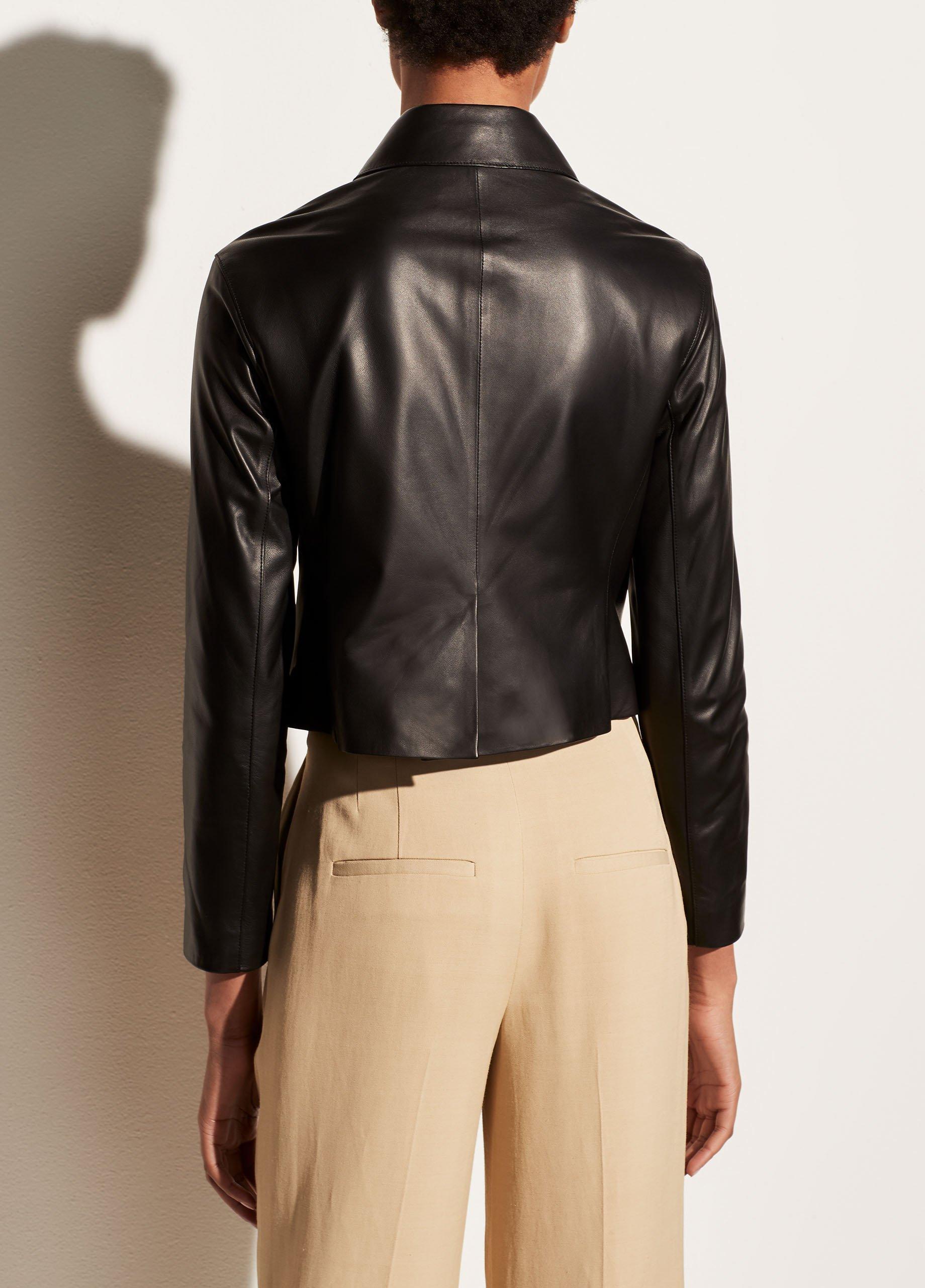 Leather Cropped Jacket