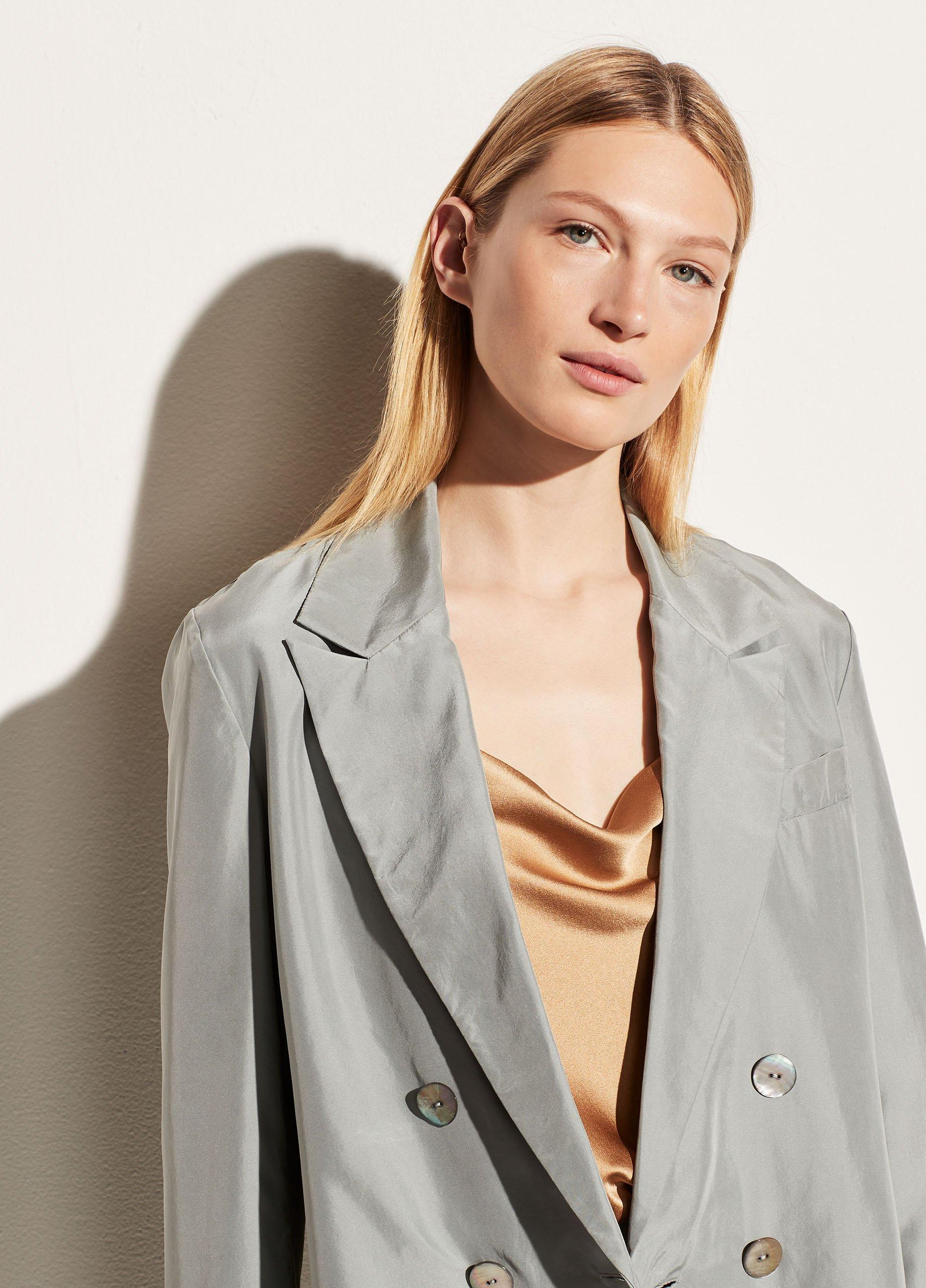 Drapey Silk Blazer
