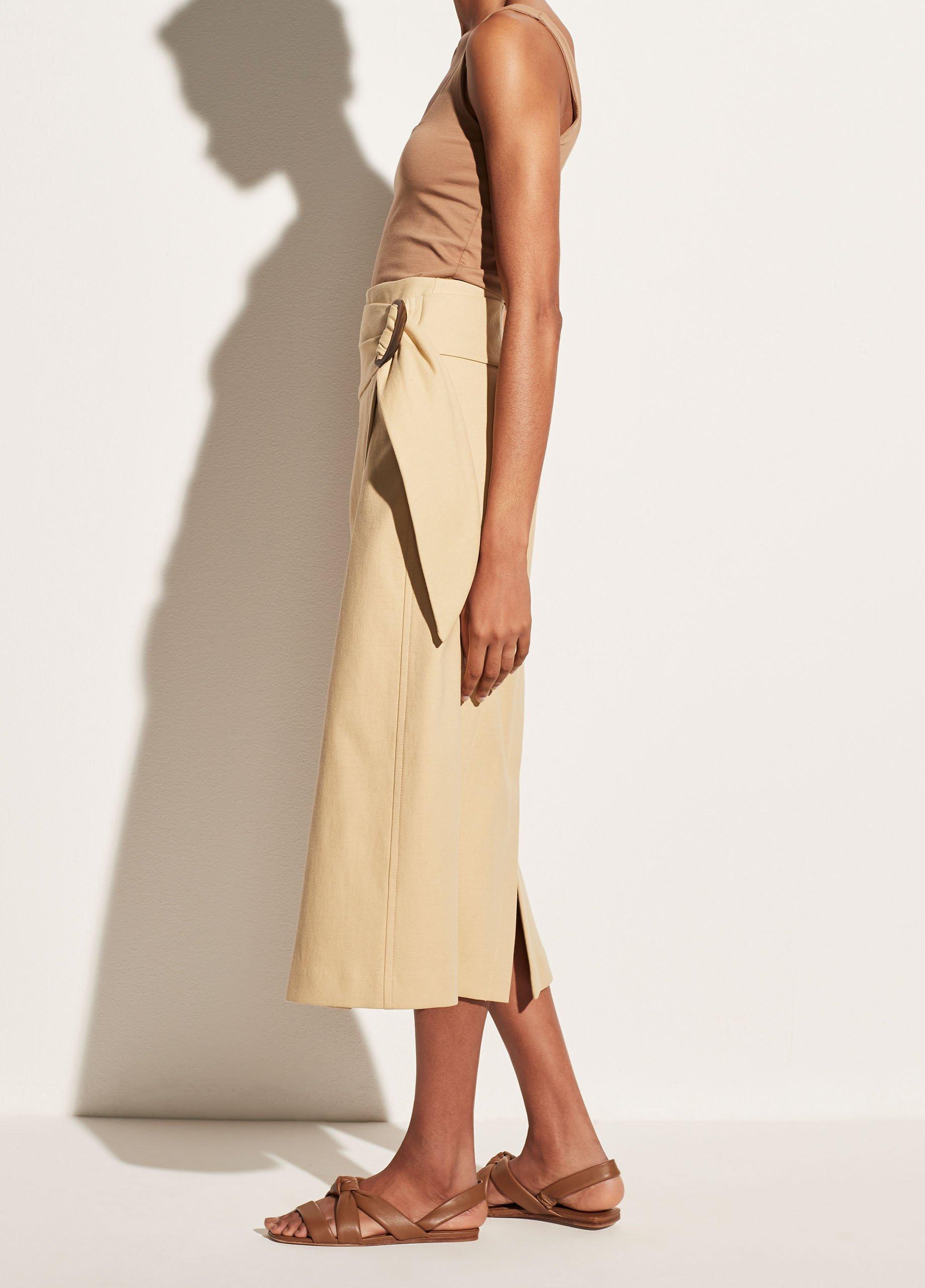 Side Buckle Wrap Skirt