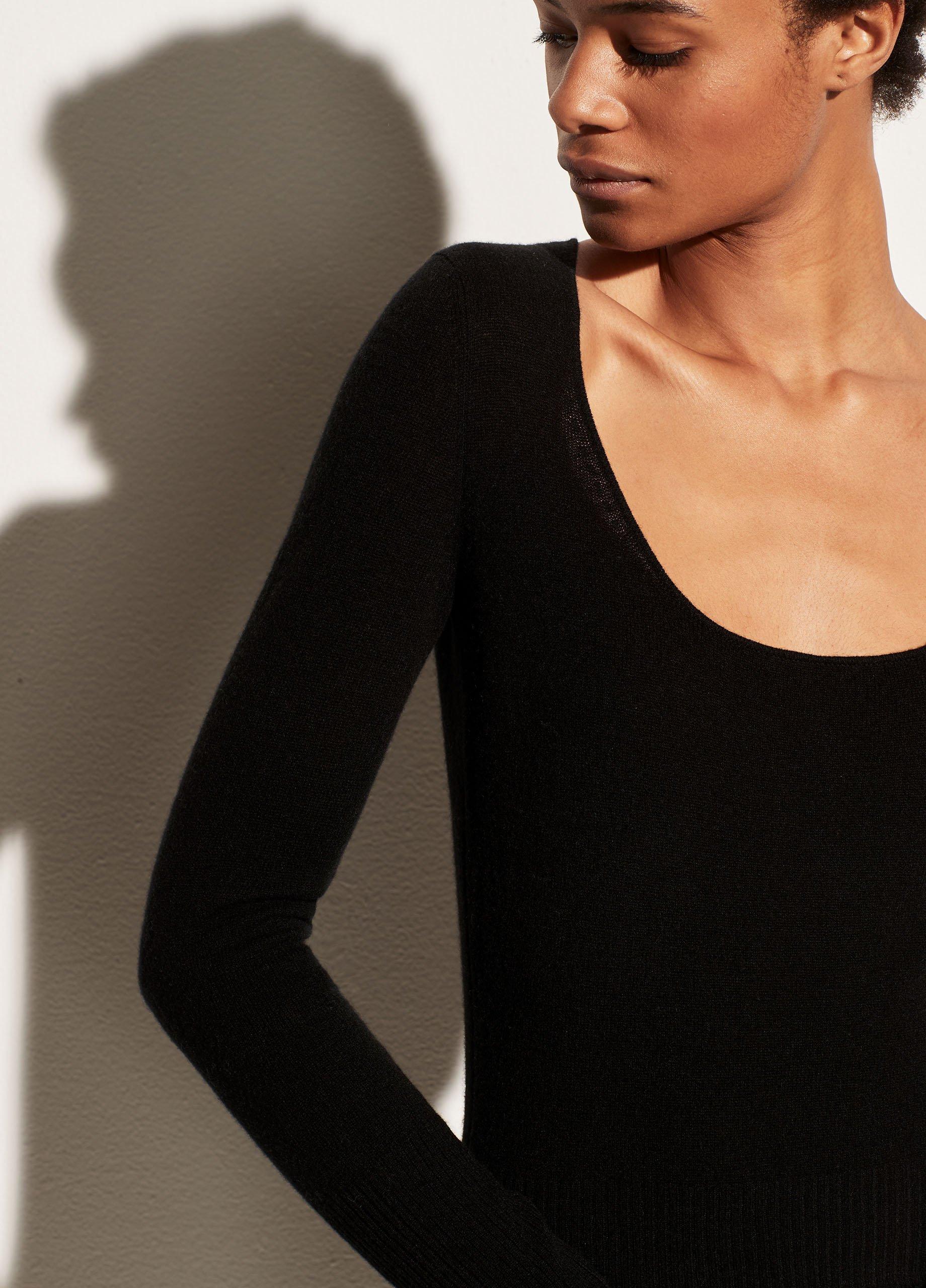 Lightweight Cashmere Scoop Neck Long Sleeve