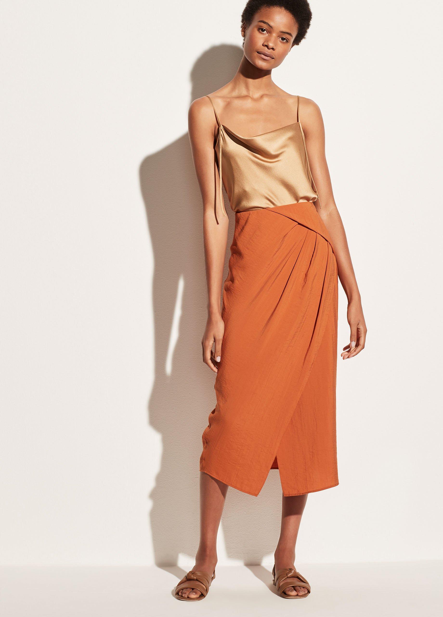 Asymmetric Cascade Drape Skirt