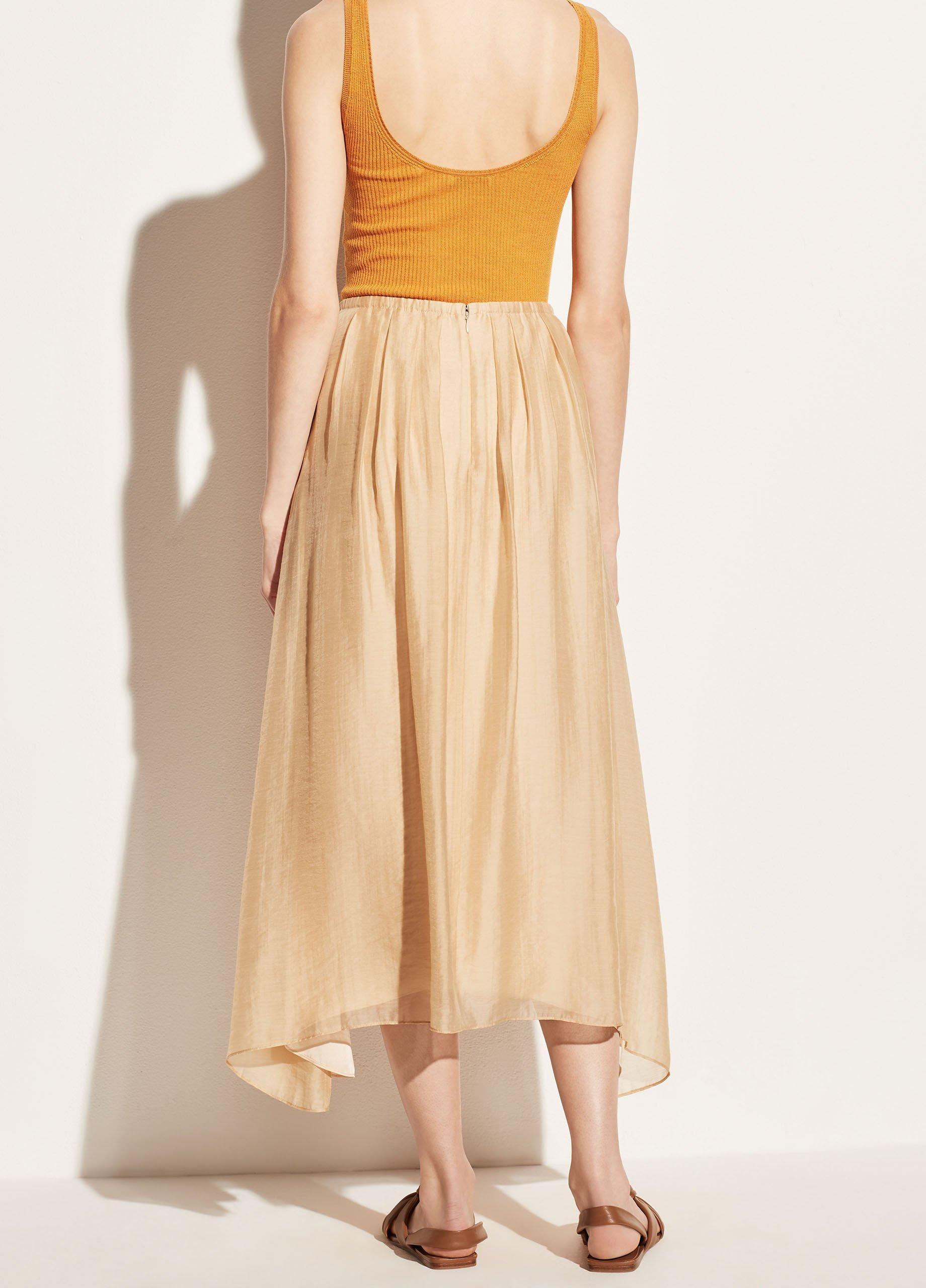 Gathered Pull On Skirt