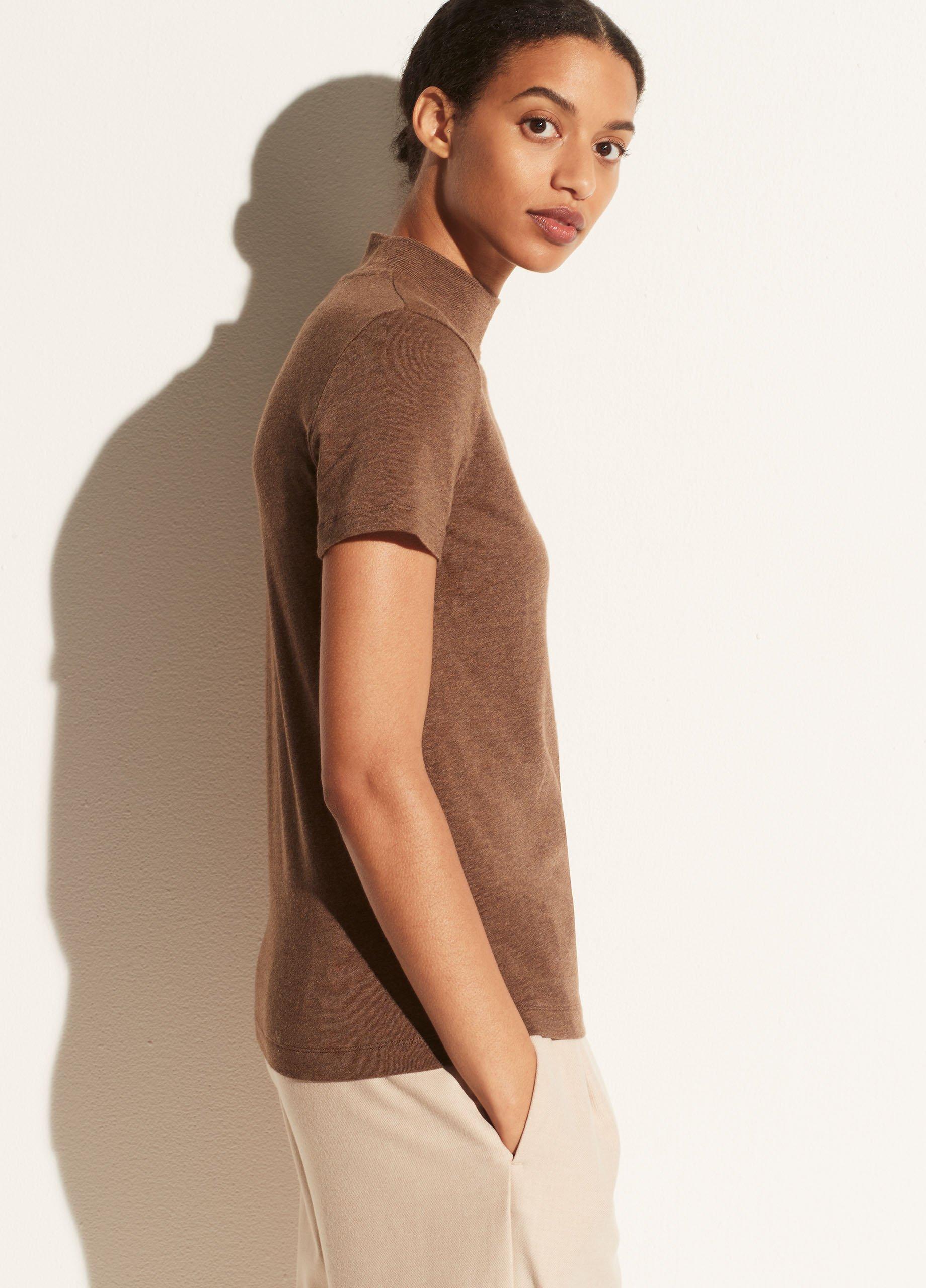 Short Sleeve Mock Neck