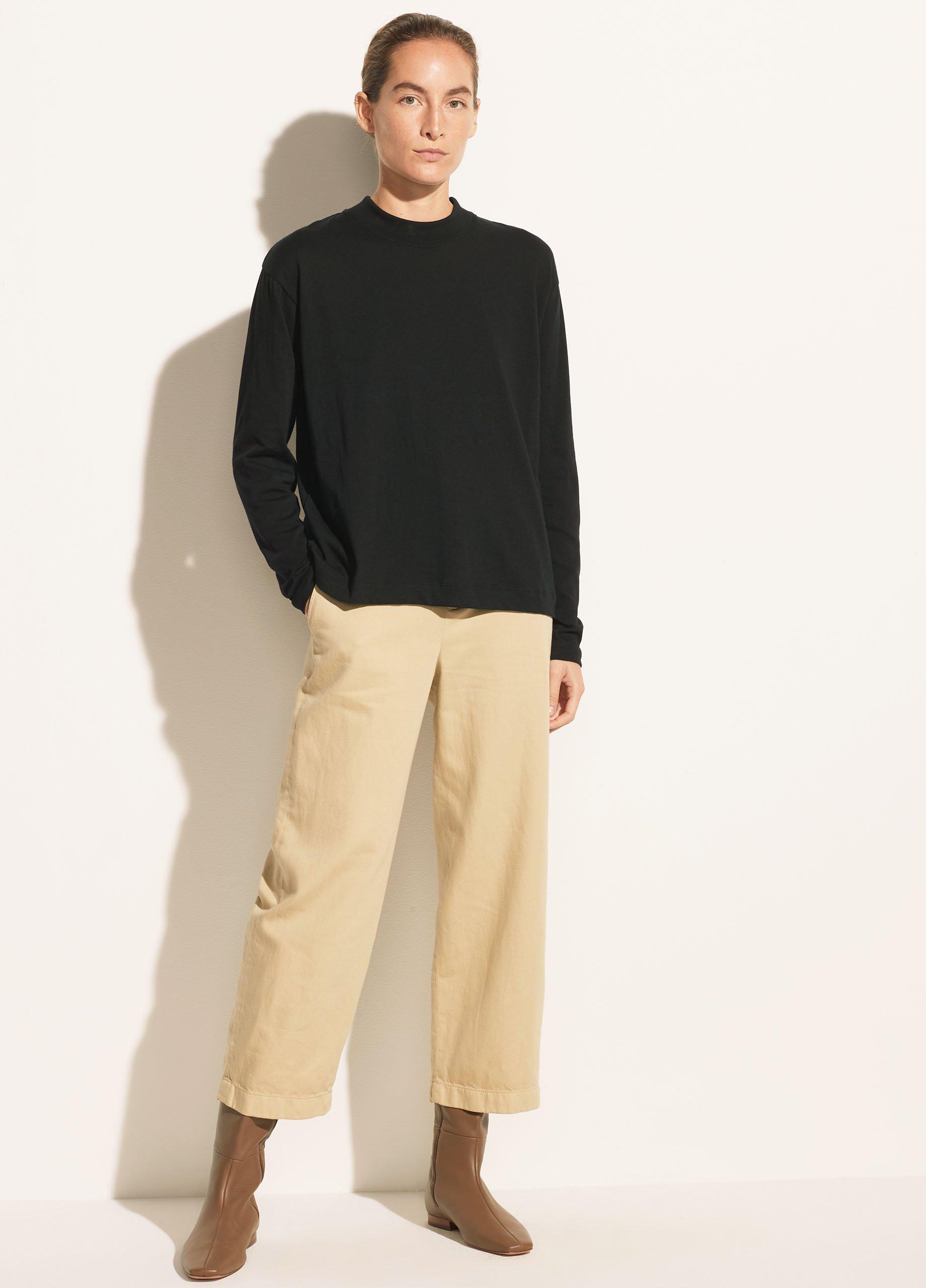 Long Sleeve Mock Neck Pullover