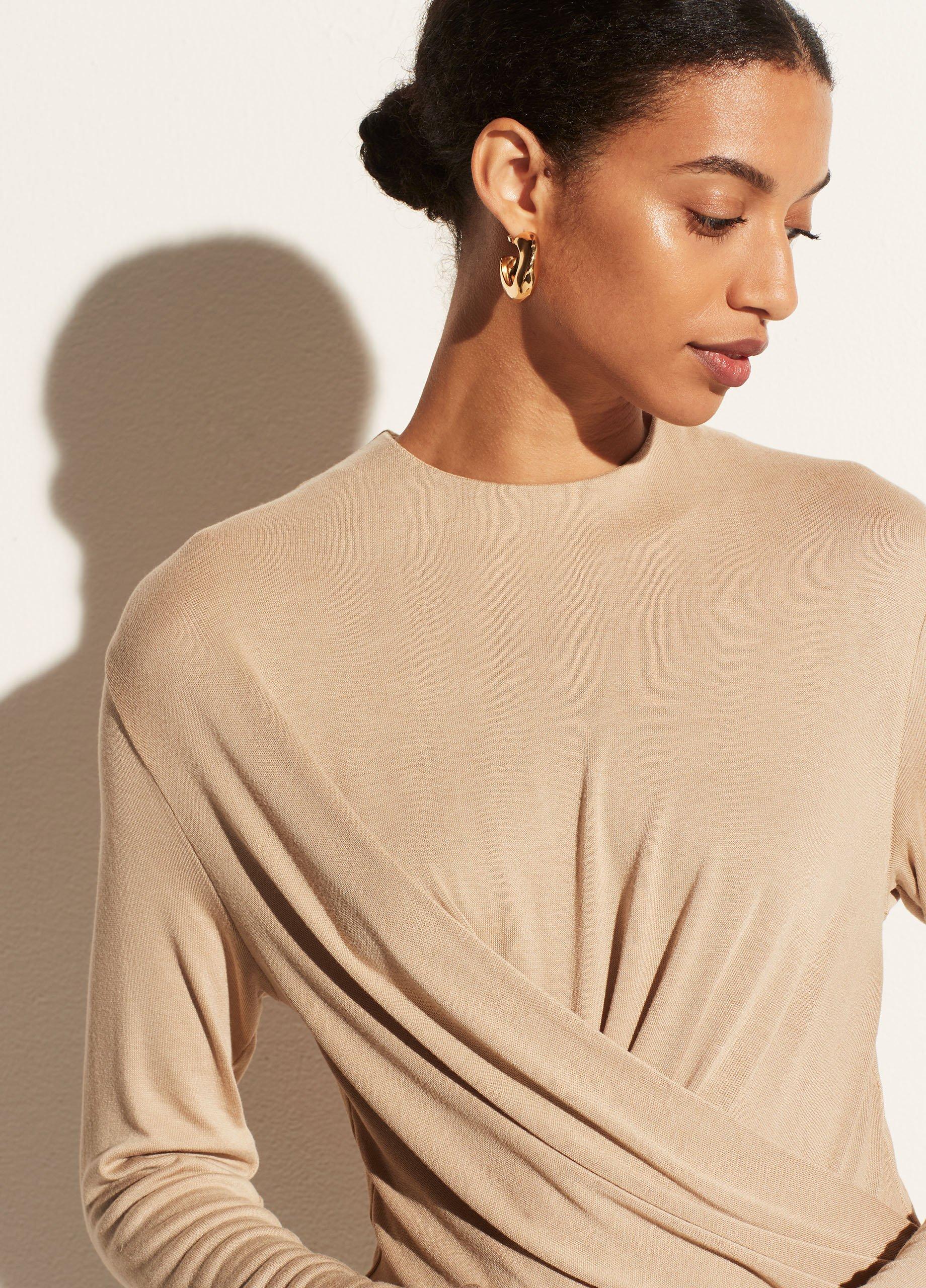 Long Sleeve Draped Bodysuit