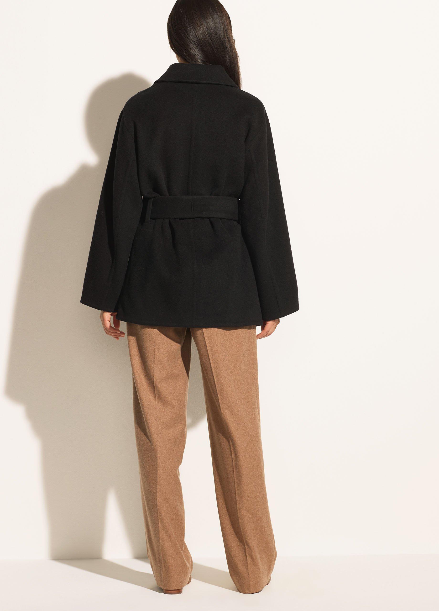 Brushed Wool Belted Jacket