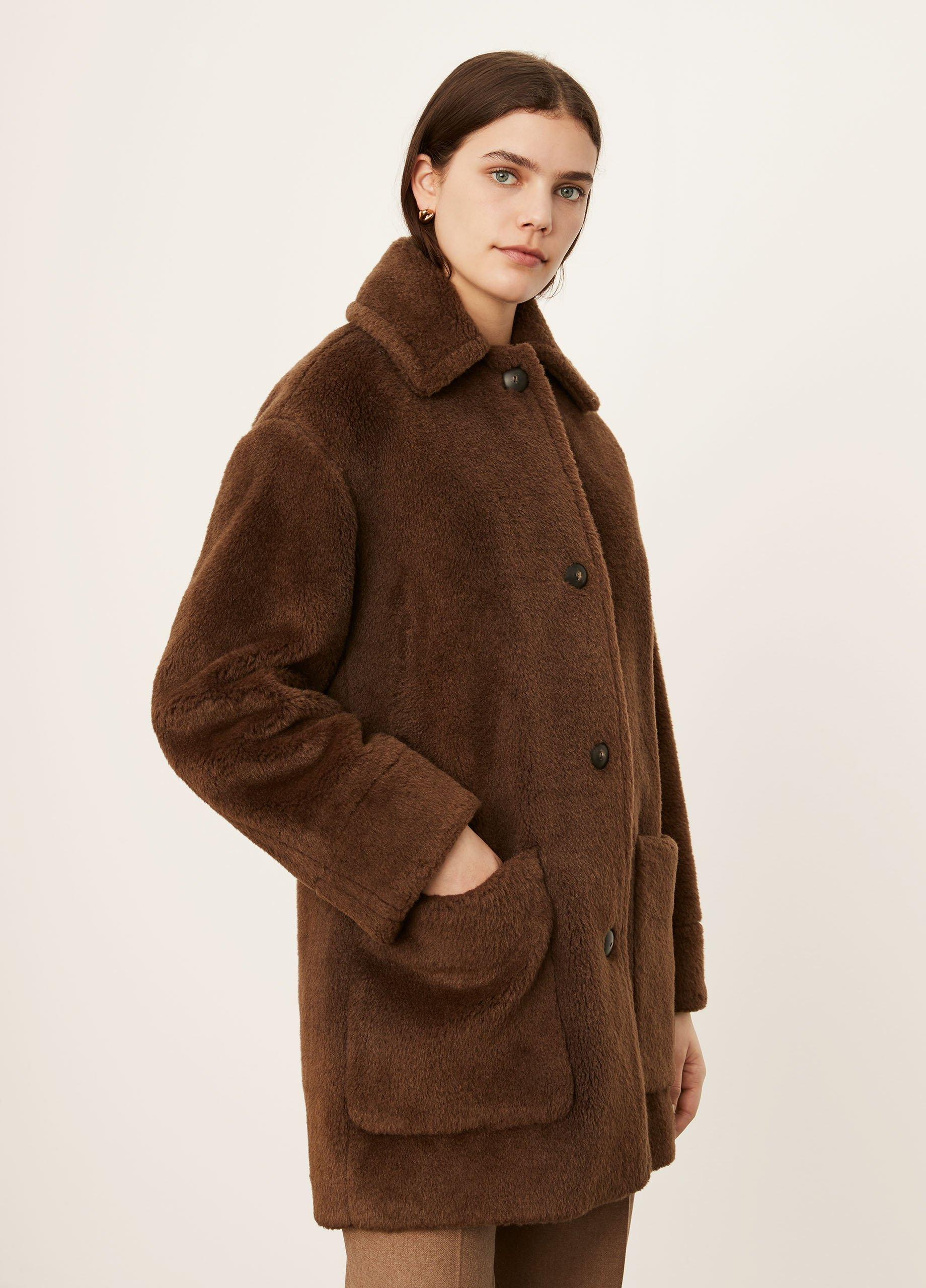 Faux Fur Car Coat