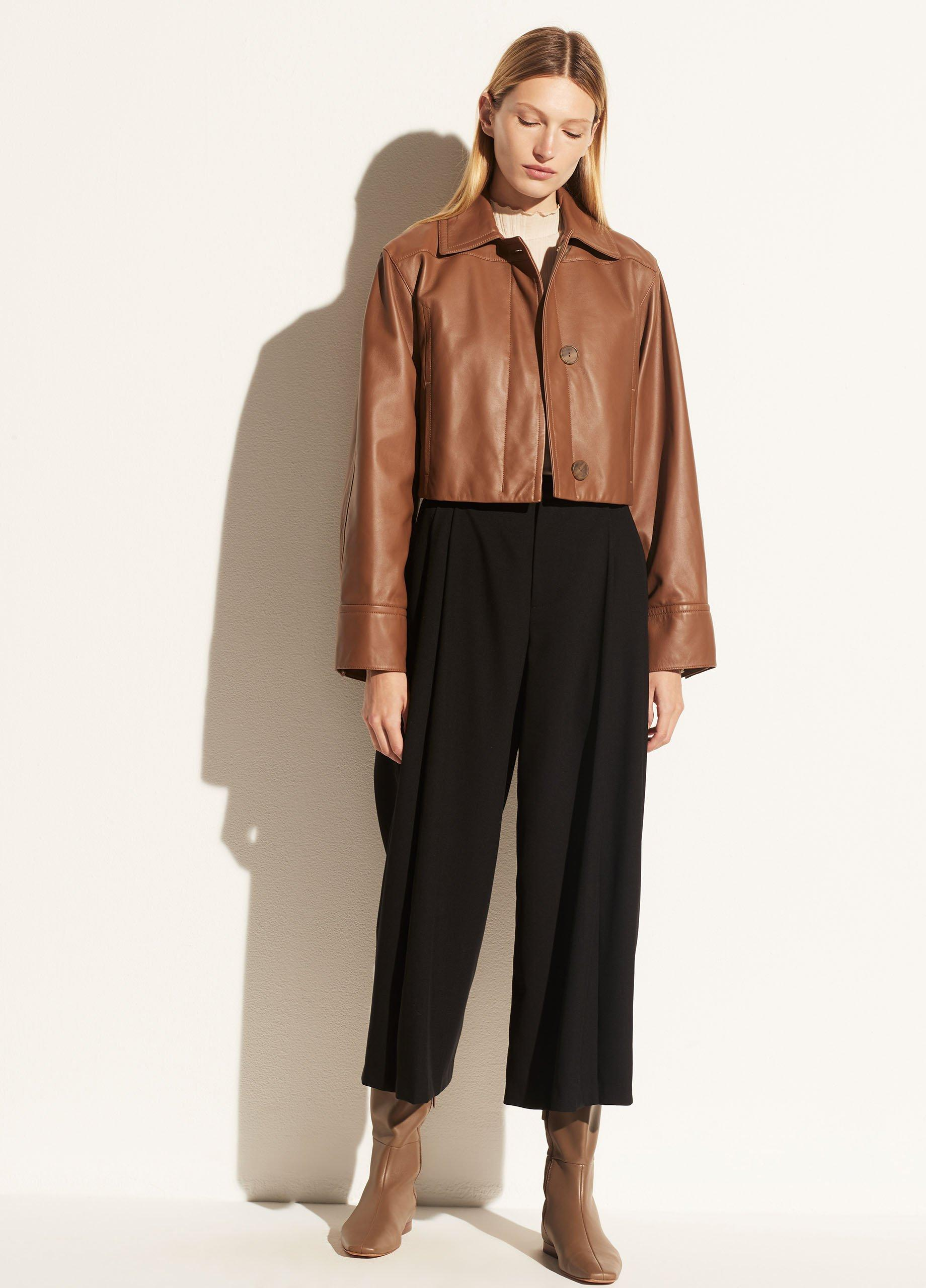 High Waisted Pleat Front Culotte