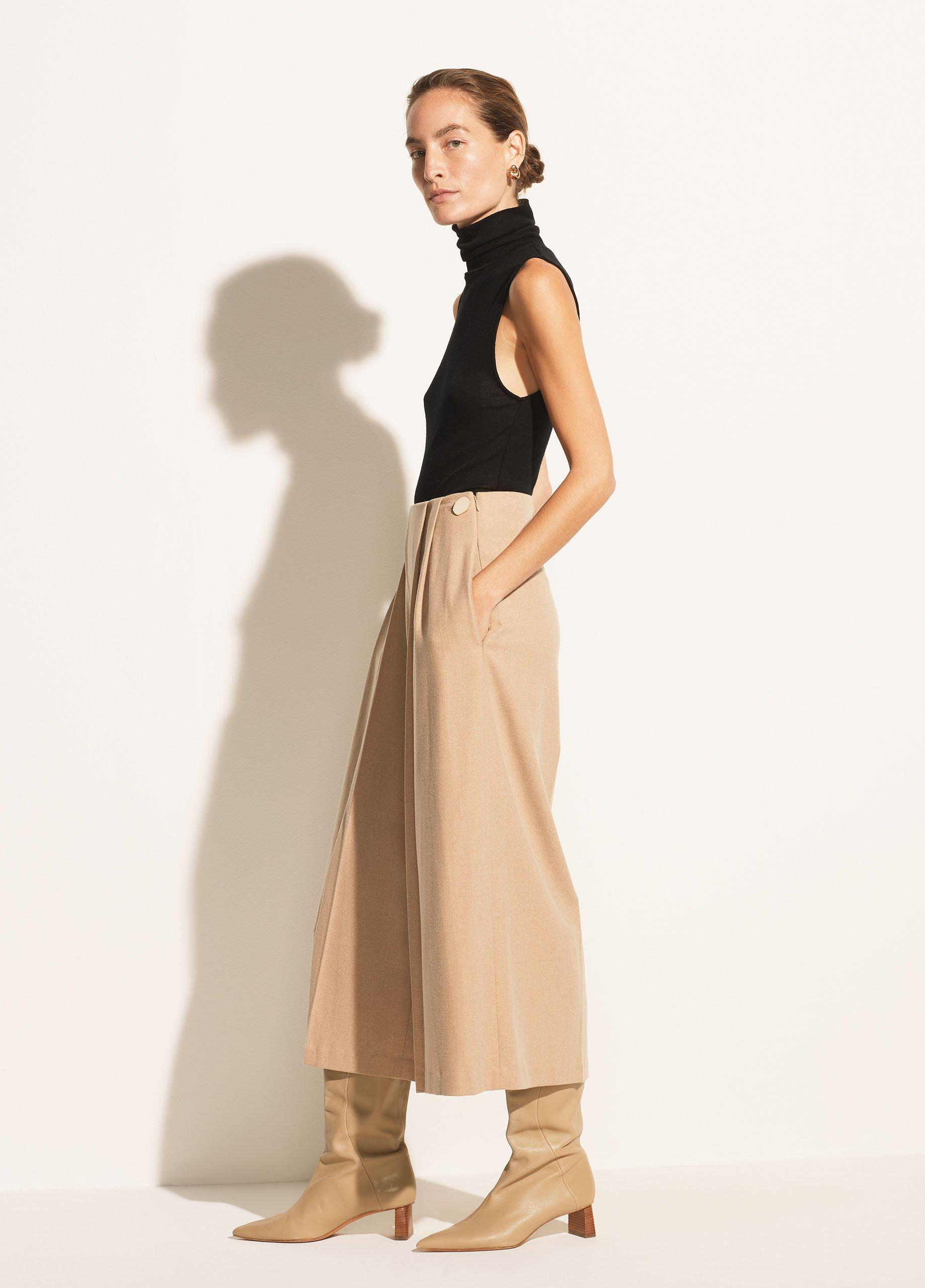 Pleat Front Flannel Culotte