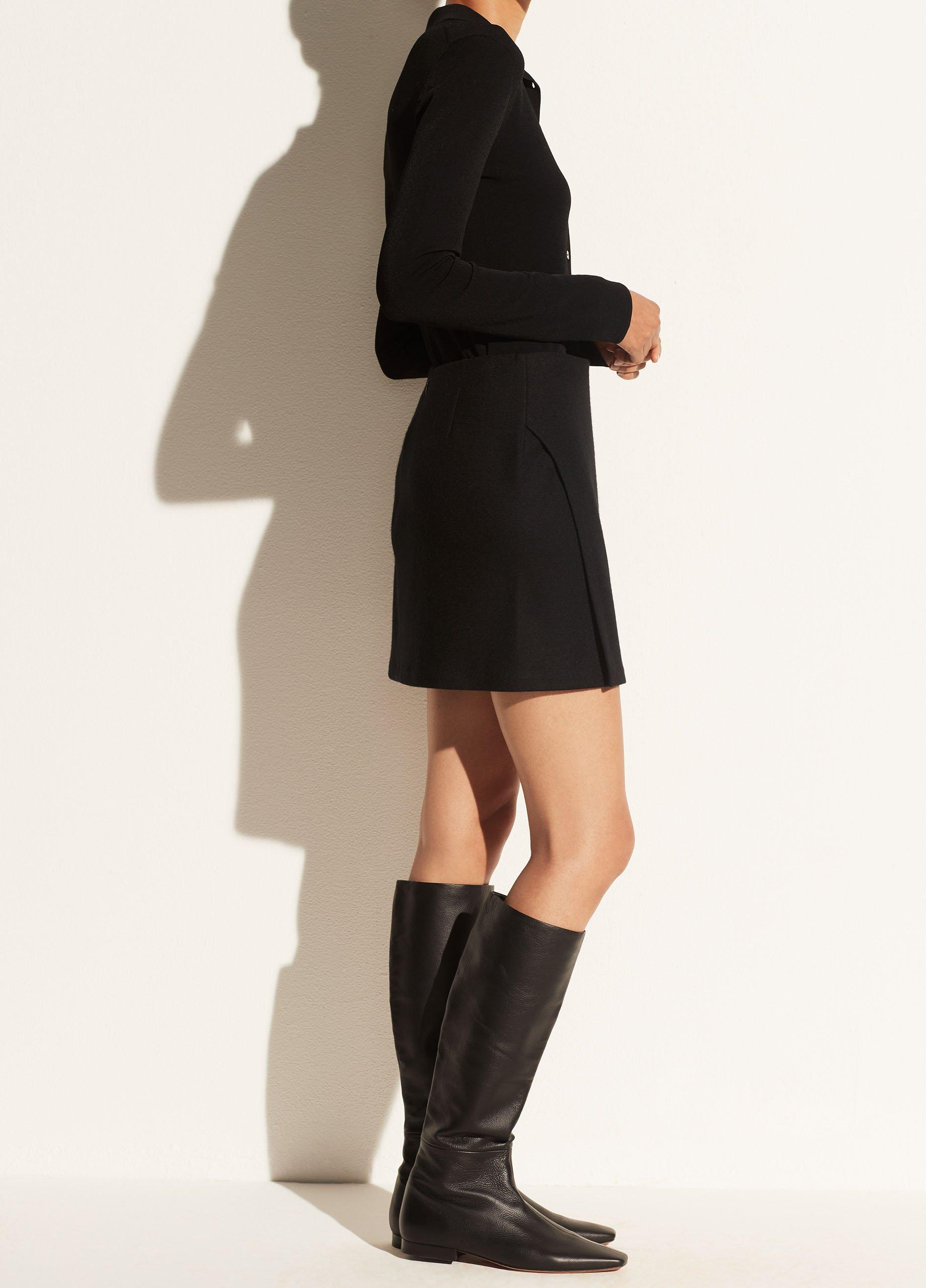 Asymmetric Paneled Skirt