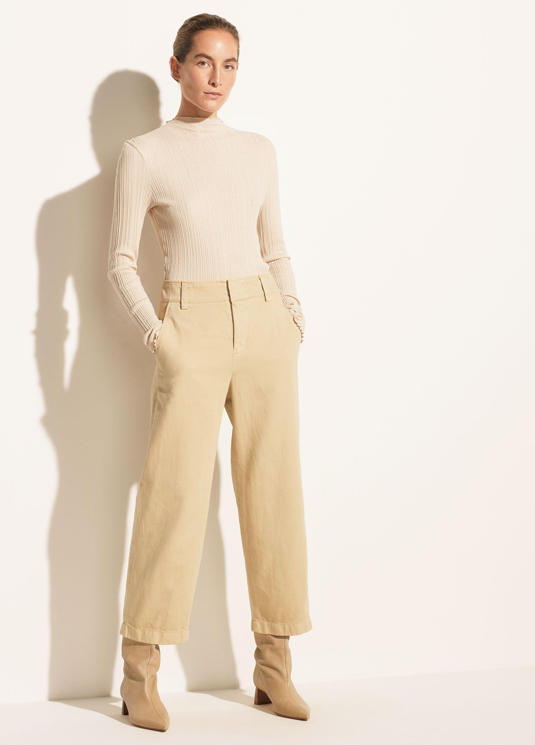 Garment Dyed Washed Cropped Pant