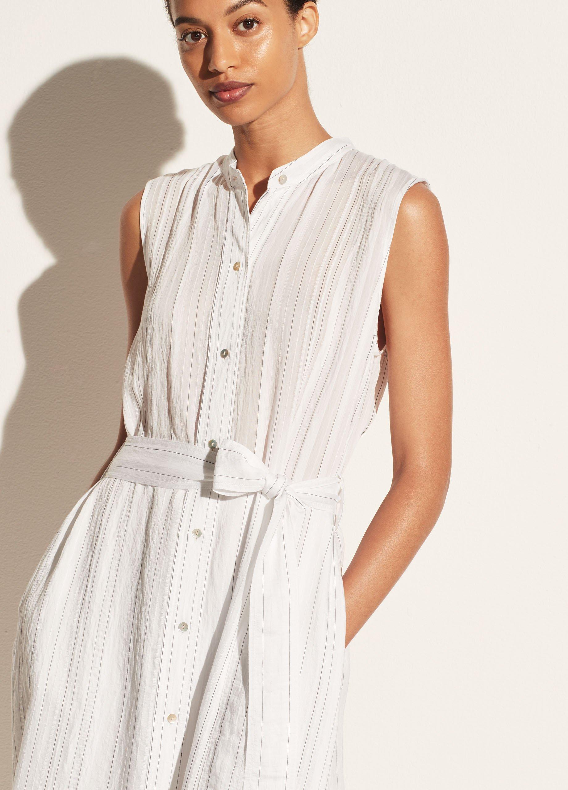 Drapey Stripe Shirt Dress