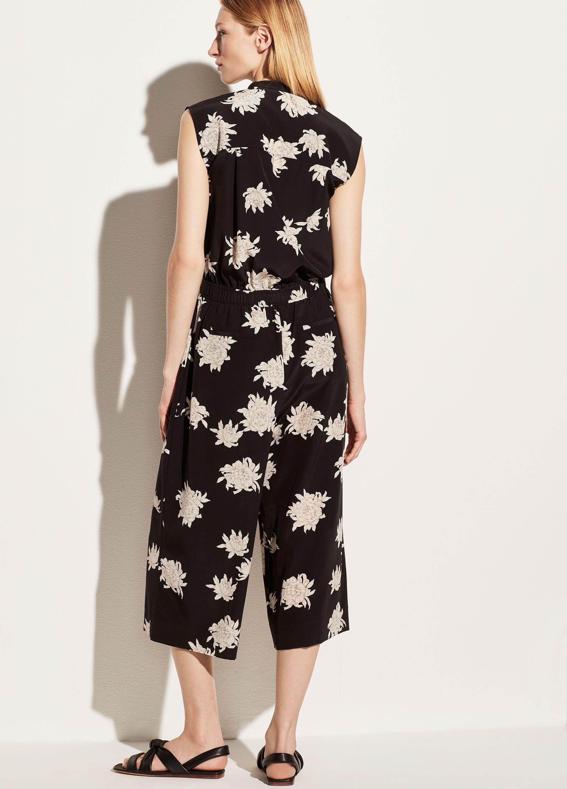 Chrysanthemum Sleeveless Jumpsuit