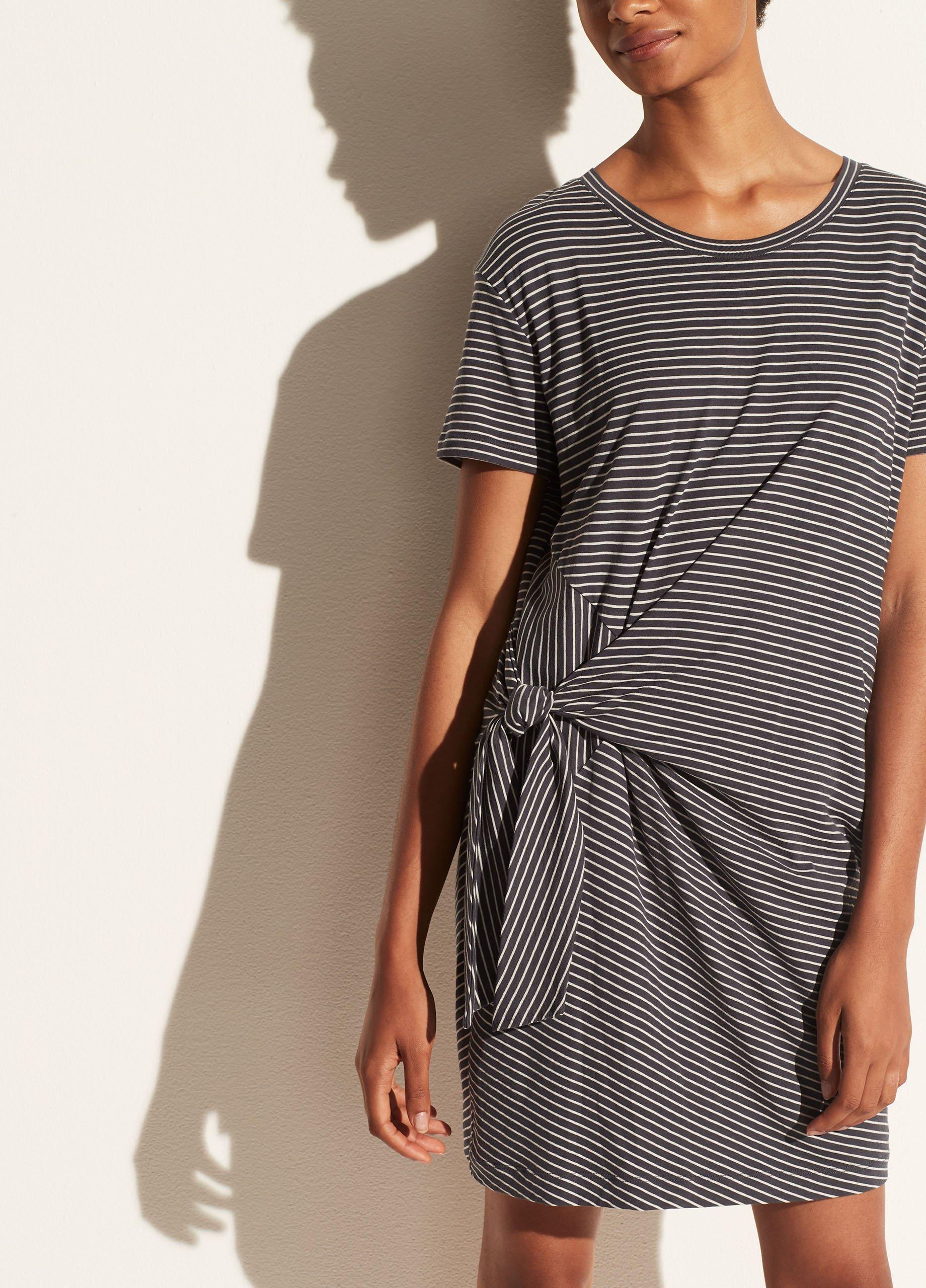 Classic Stripe Side Tie Dress
