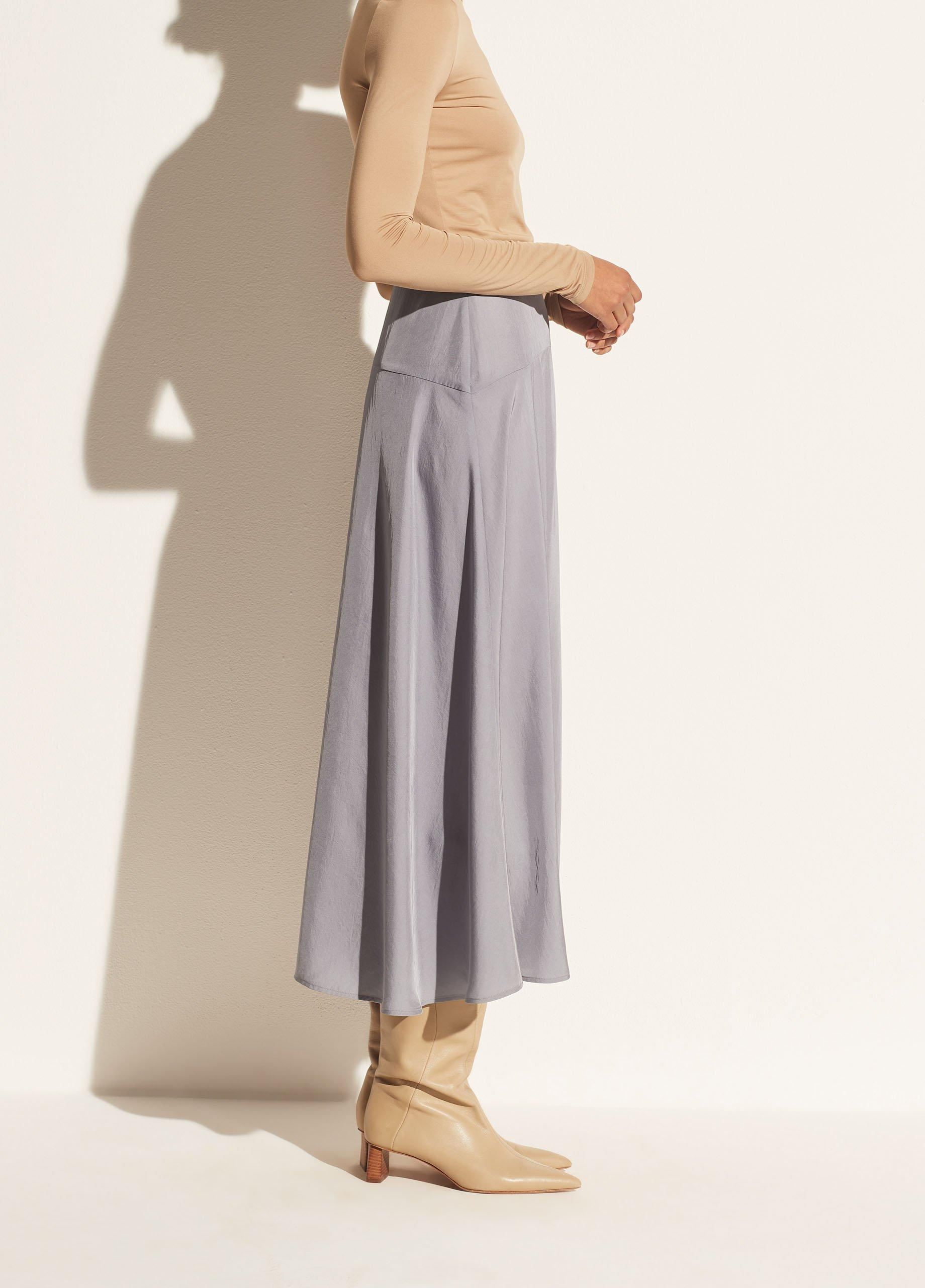 Paneled Front Flutter Skirt