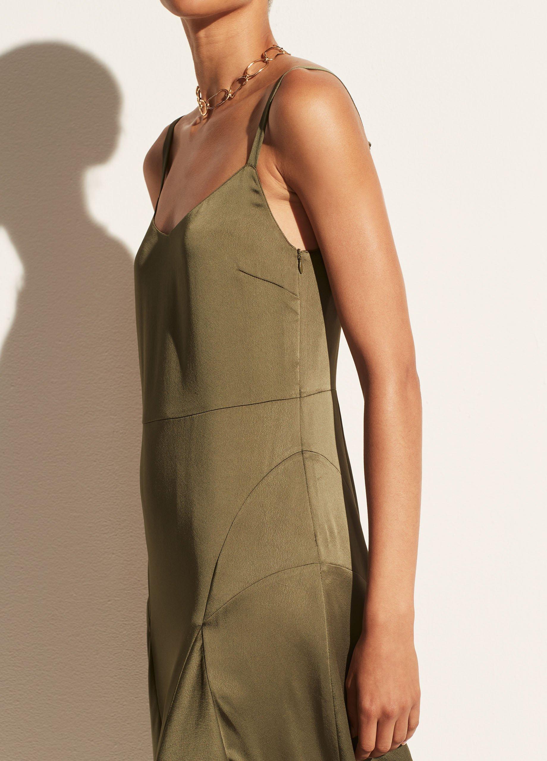 Paneled V-Neck Slip Dress