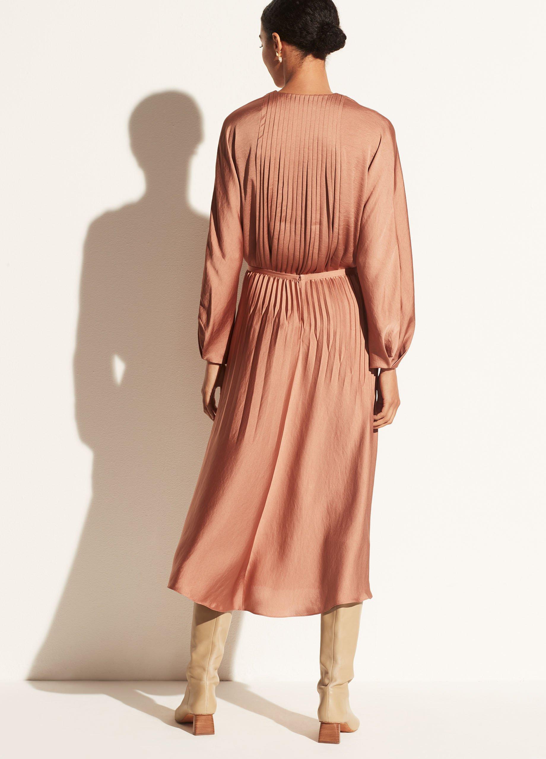 Pleated Paneled Skirt