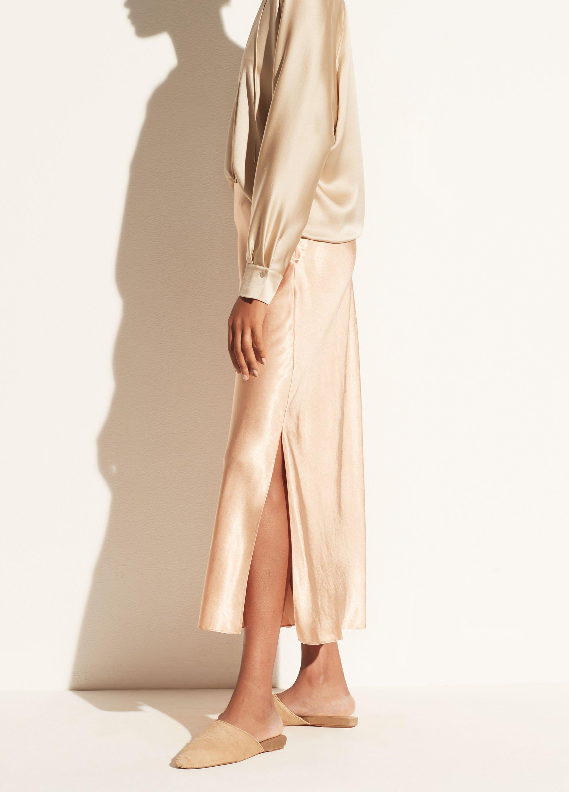 Side Slit Slip Skirt