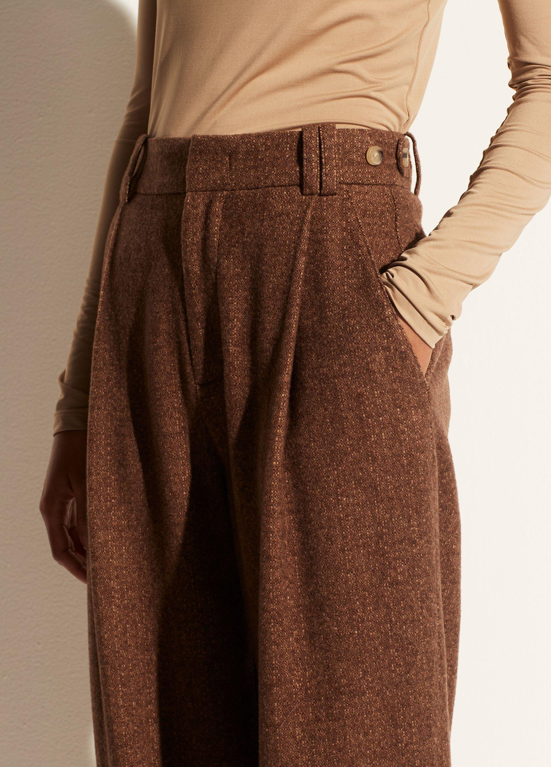 Flannel High Waisted Trouser