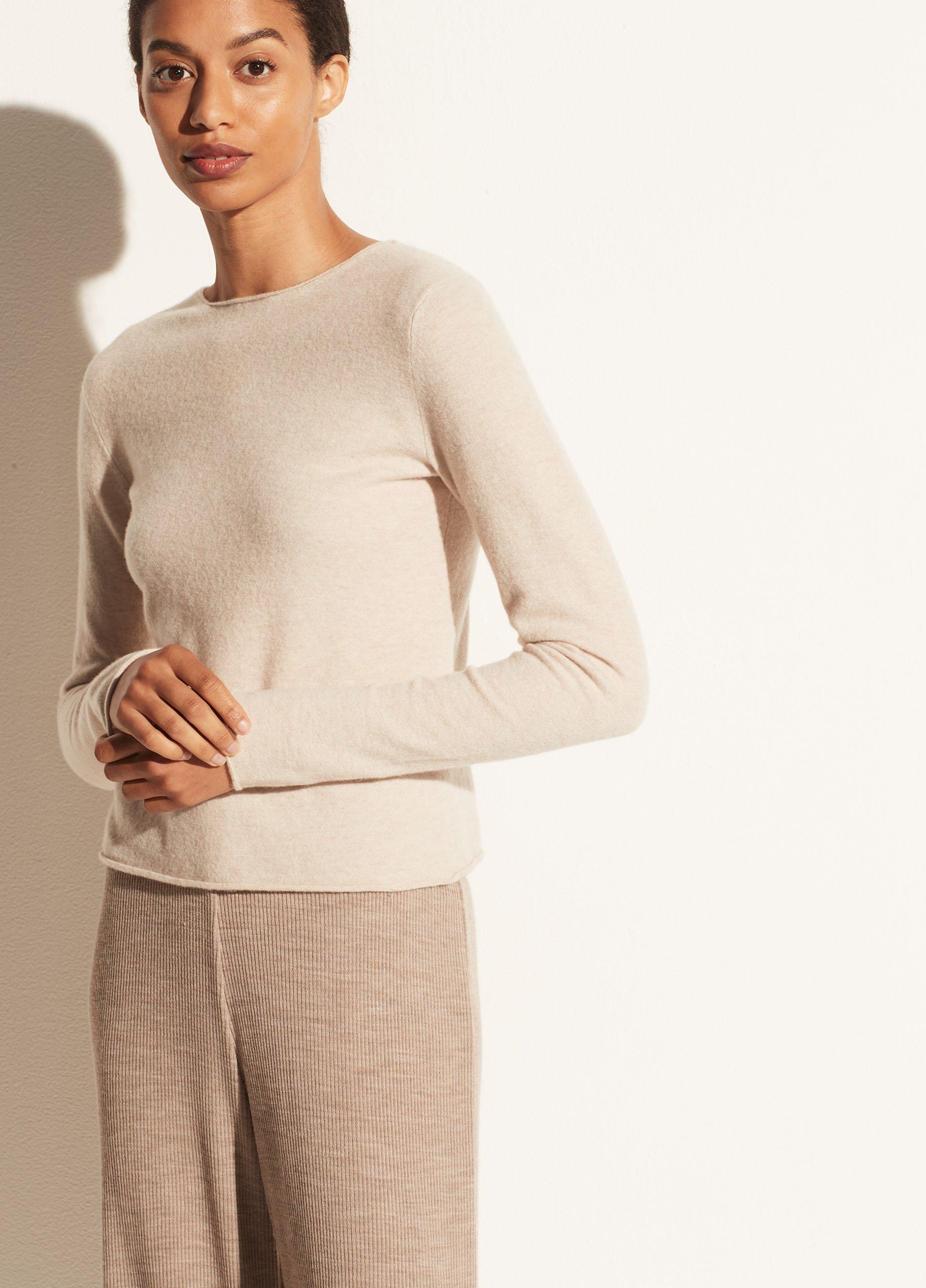 Cashmere Clean Edge Stretch Pullover