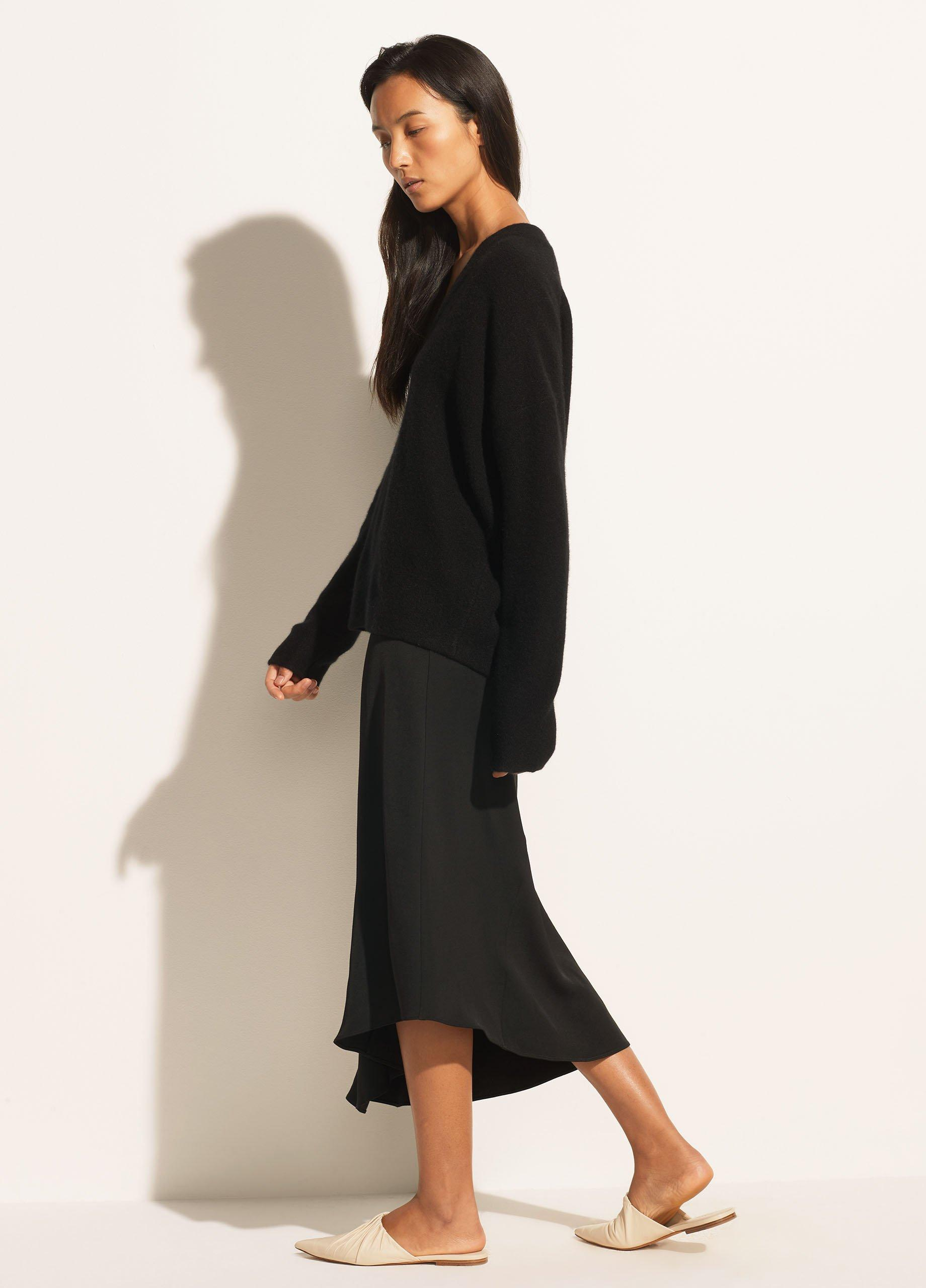 Boiled Cashmere Relaxed V Neck Pullover