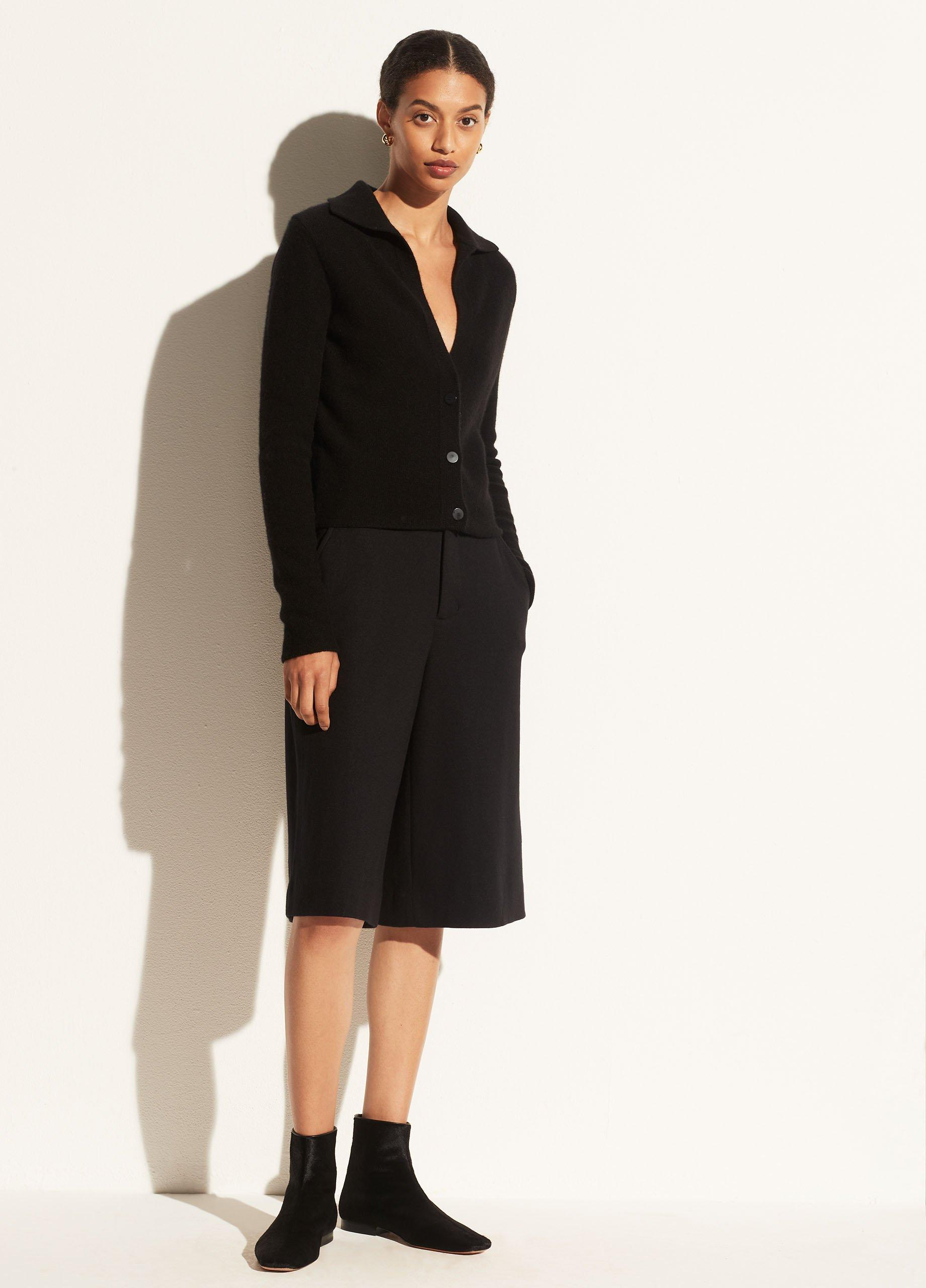 Boiled Cashmere Polo Buttoned Cardigan