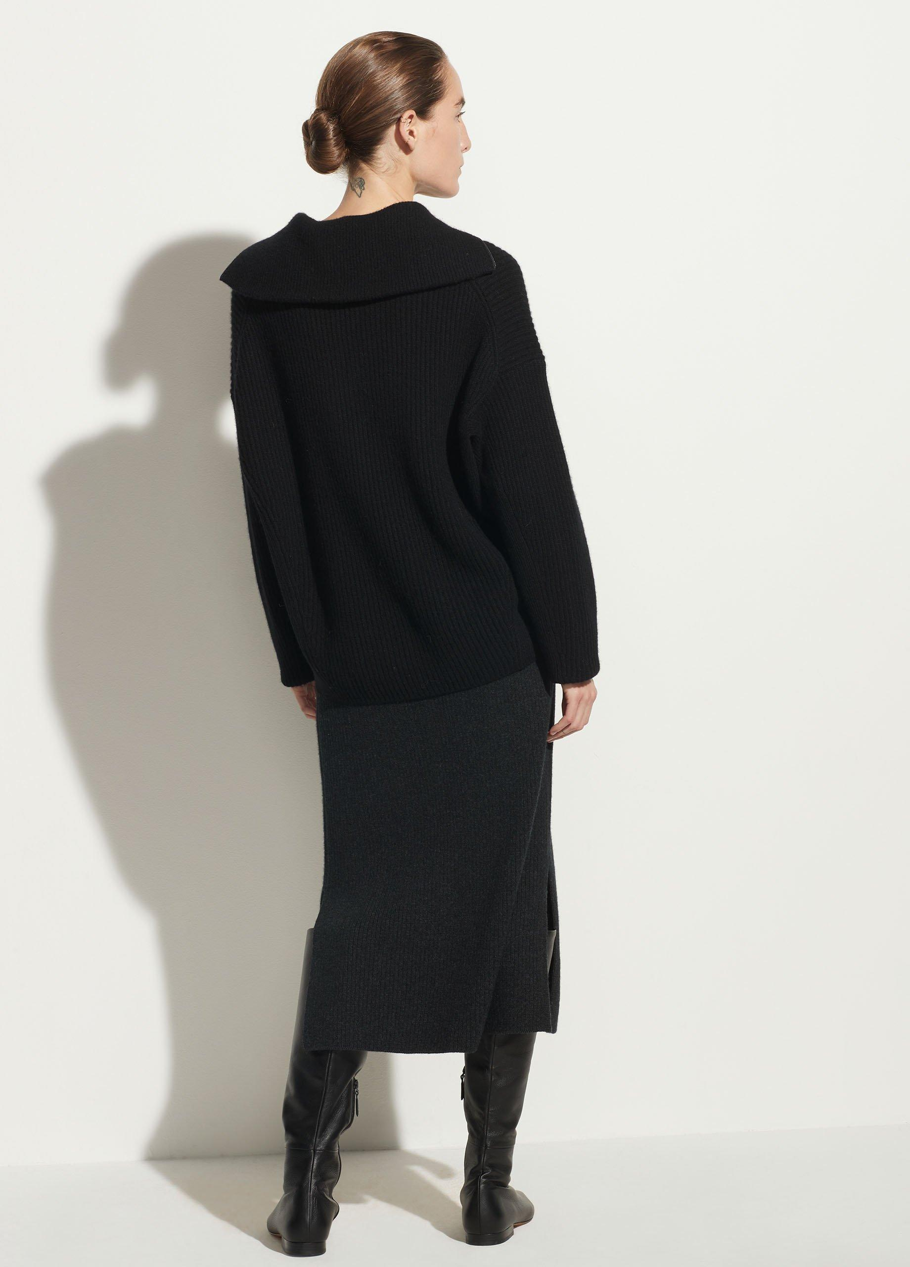 Half Zipped Ribbed Pullover