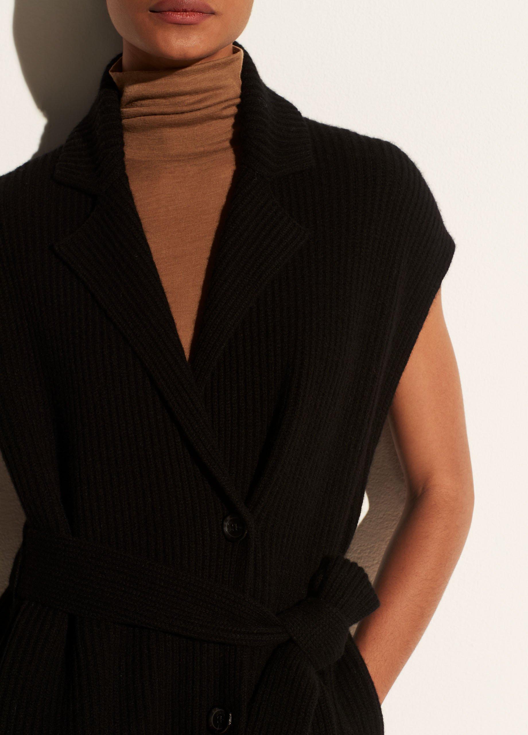 Ribbed Belted Vest