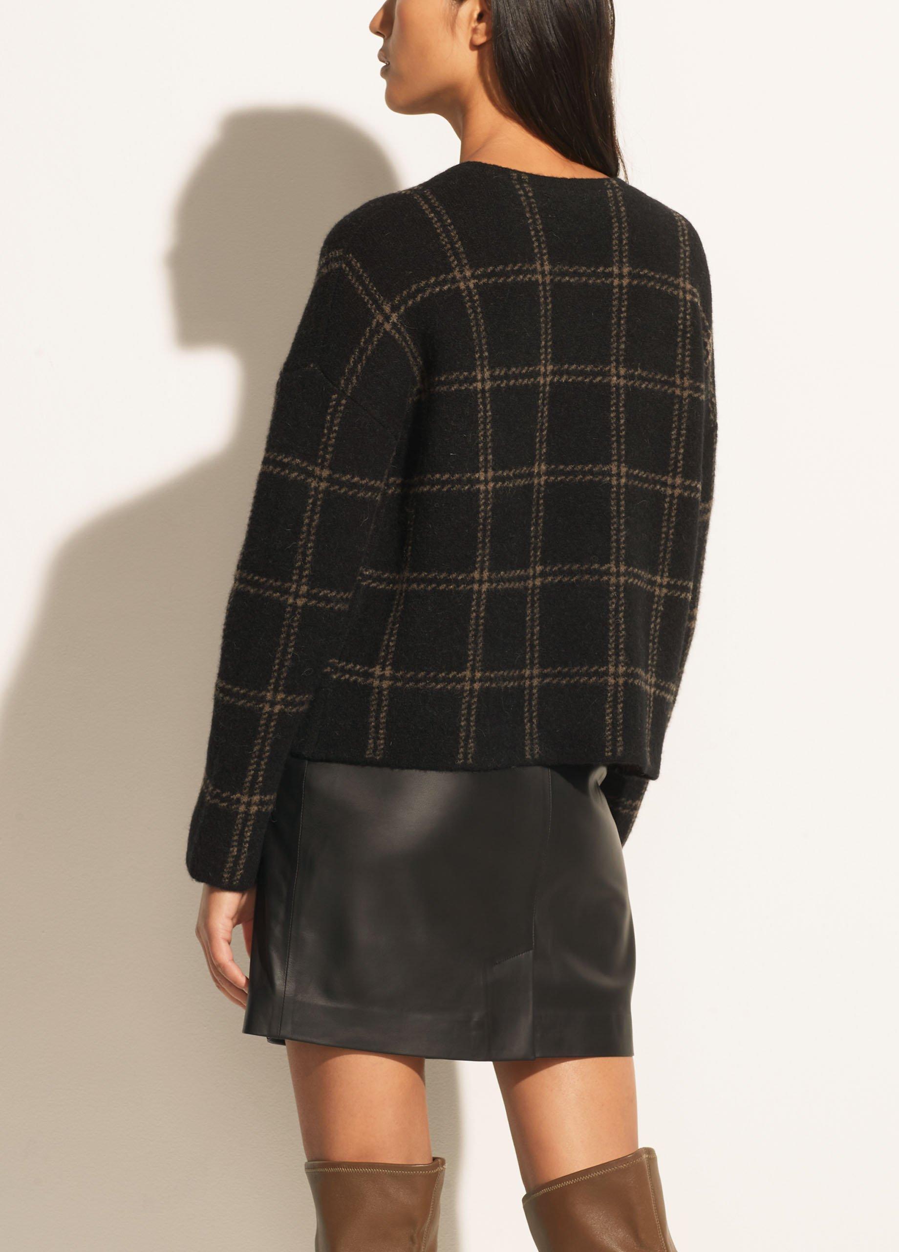 Windowpane Plaid Pullover