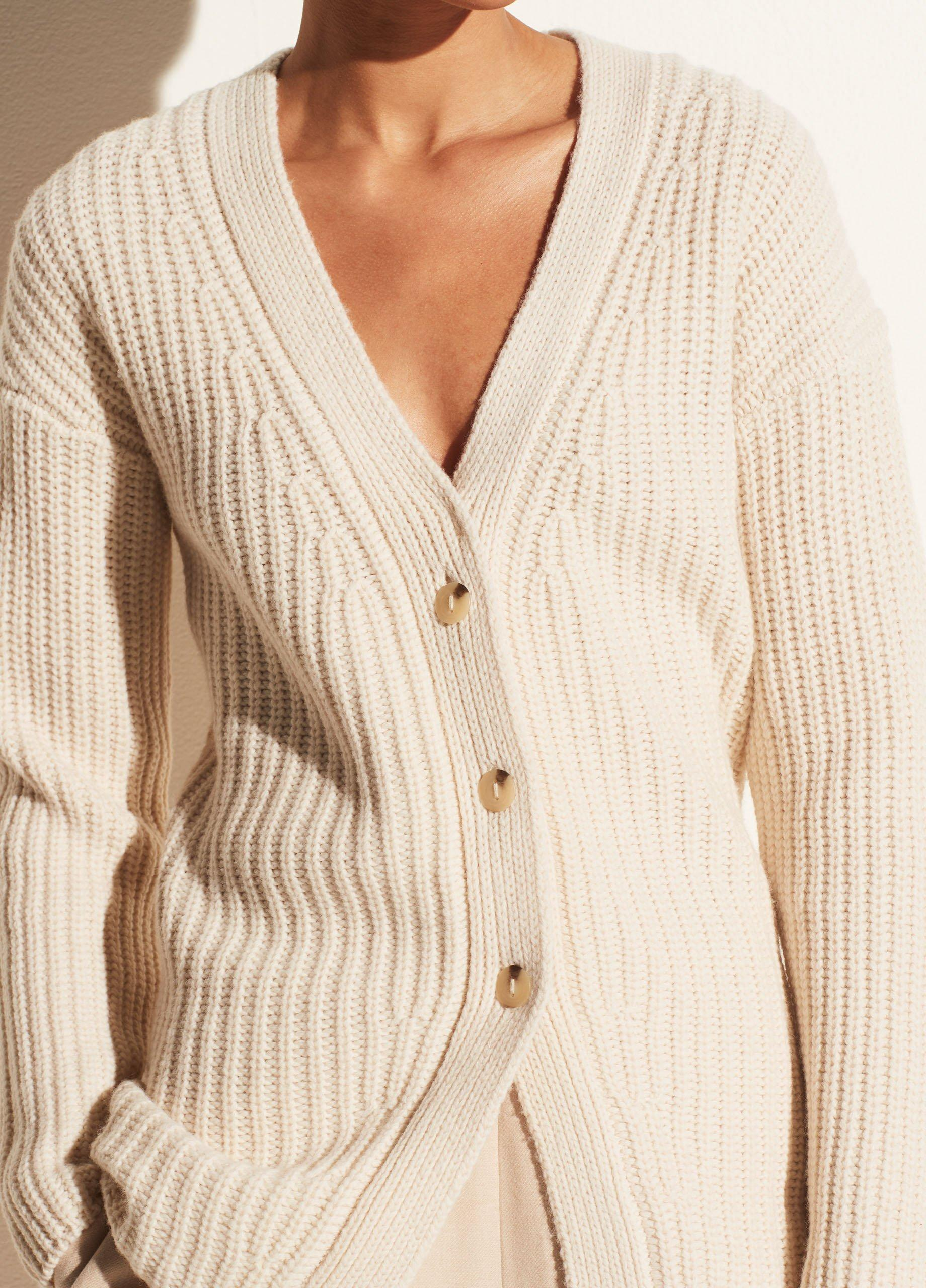 Fitted Ribbed Cardigan