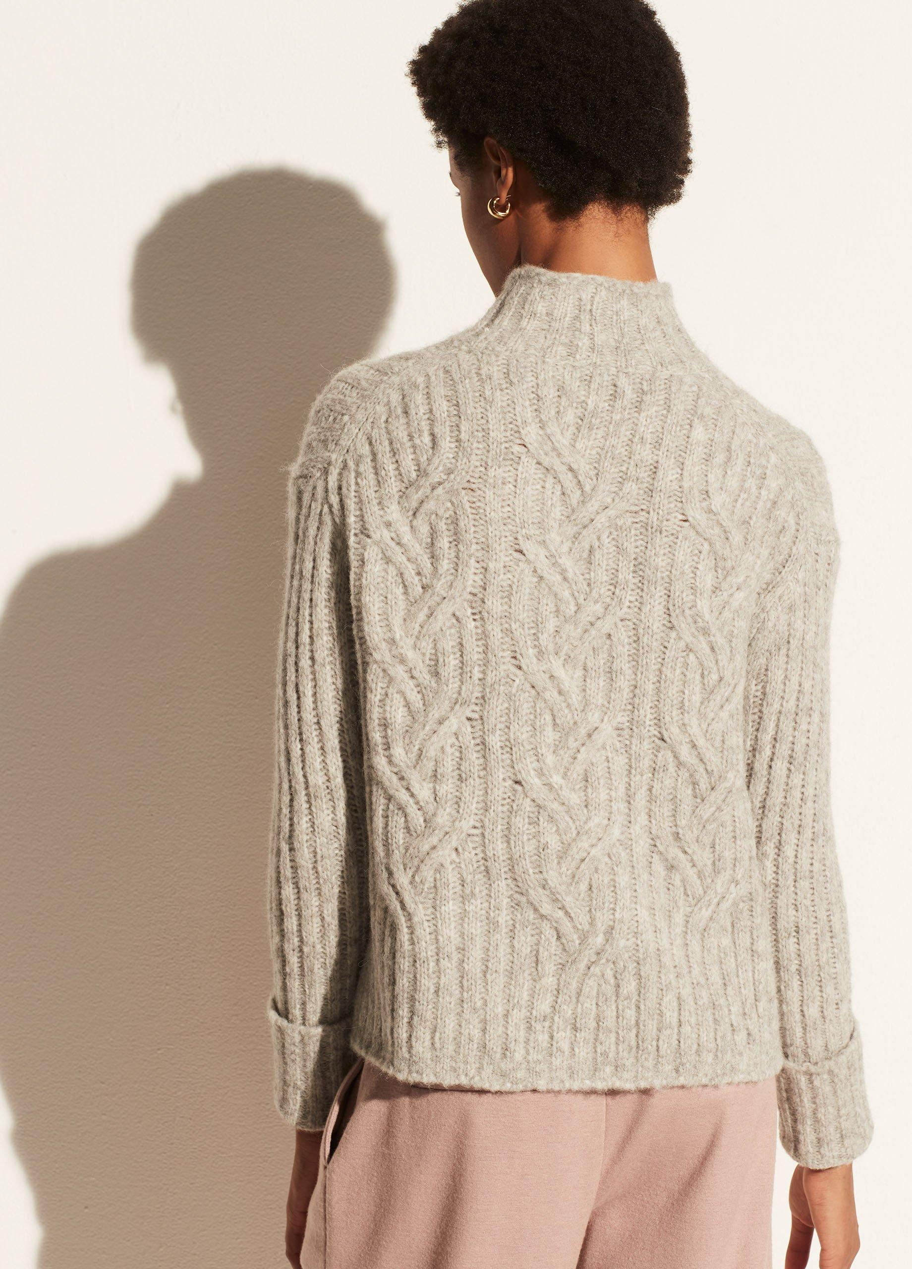 Mirrored Cable Turtleneck