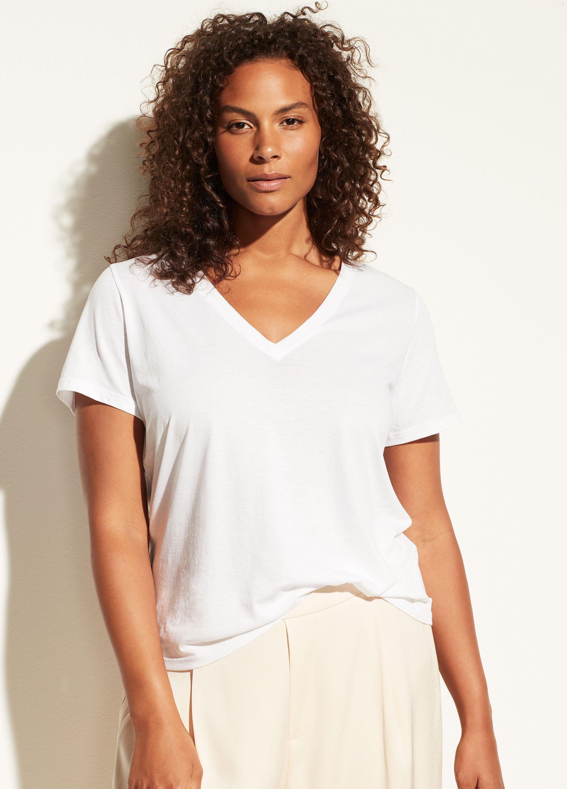 Essential Pima Cotton V-Neck