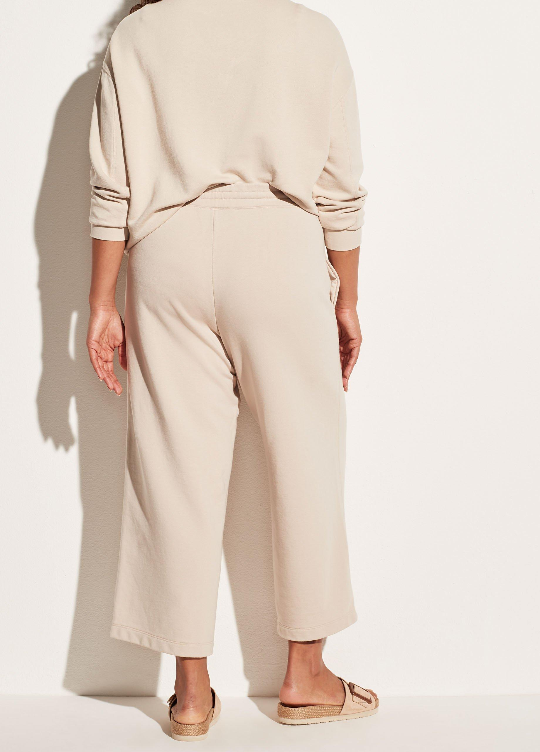 Garment Washed French Terry Cropped Pant