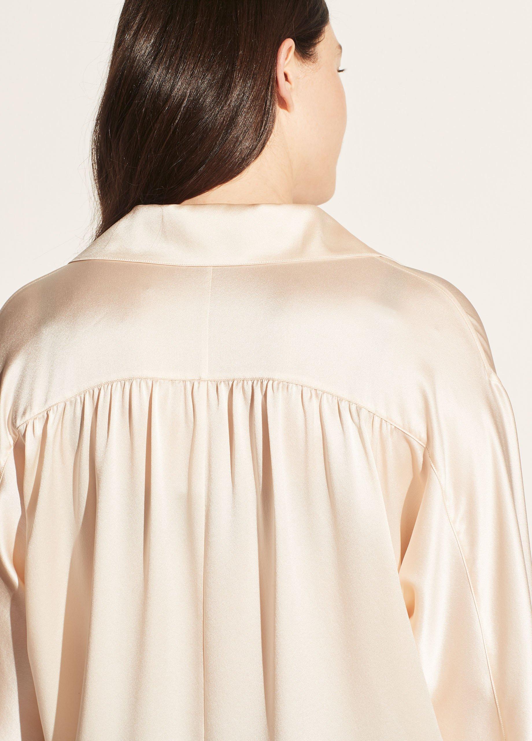 Long Sleeve Shaped Collar Blouse