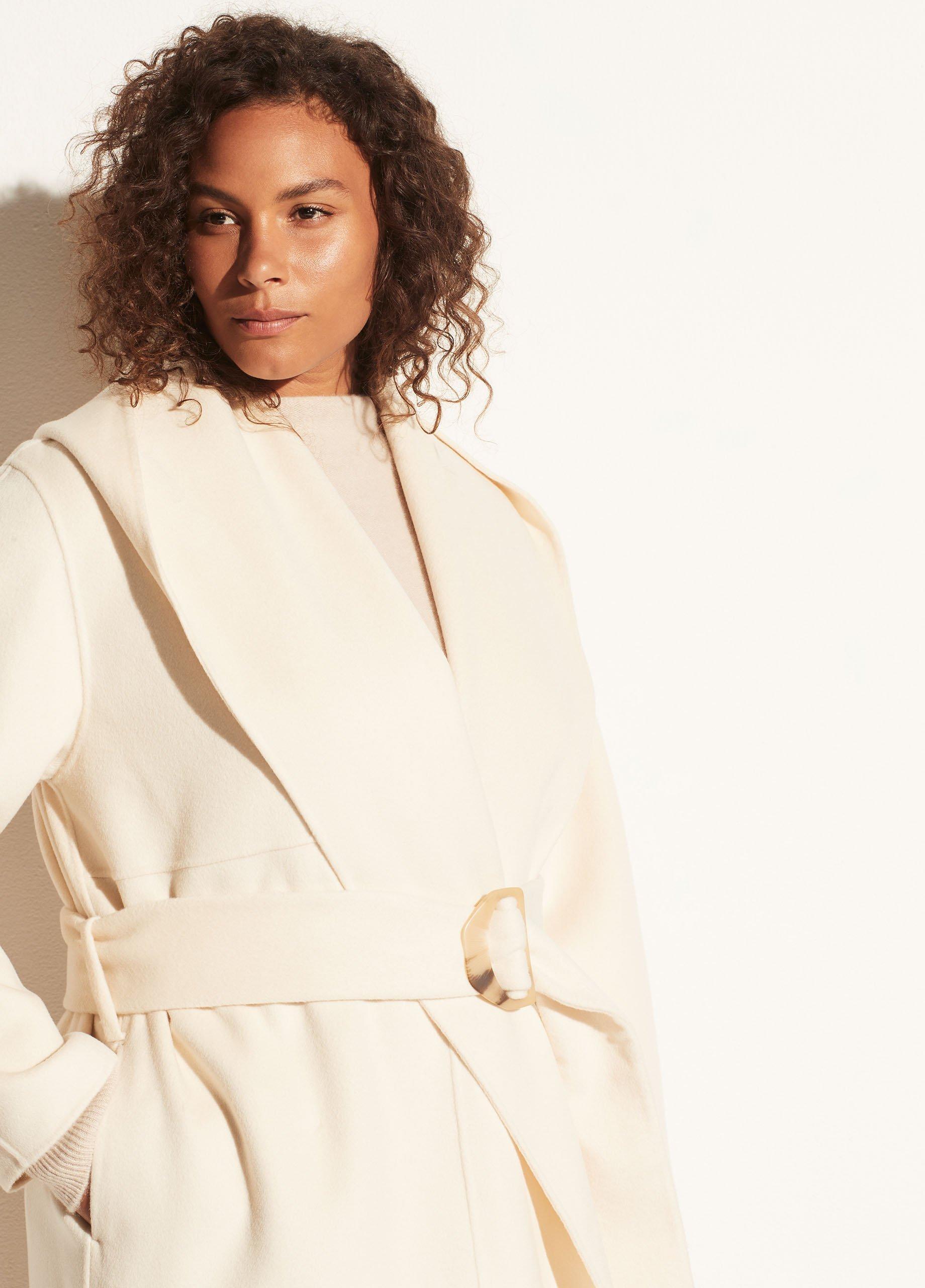 Draped Hooded Coat