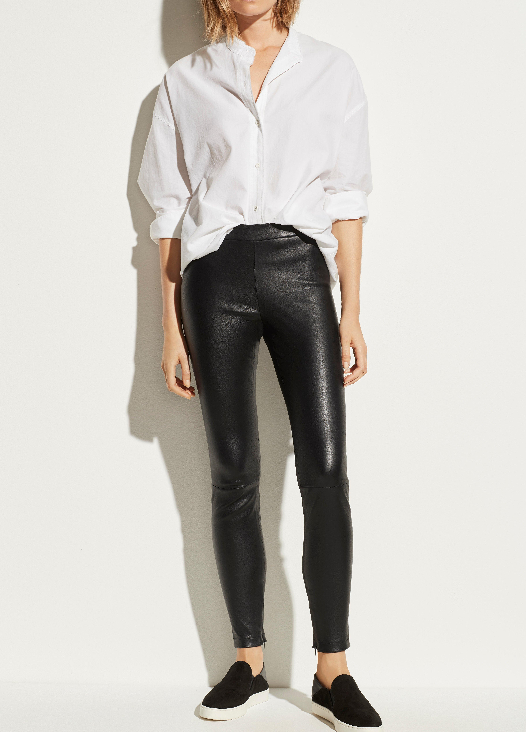 Leather Zip Legging