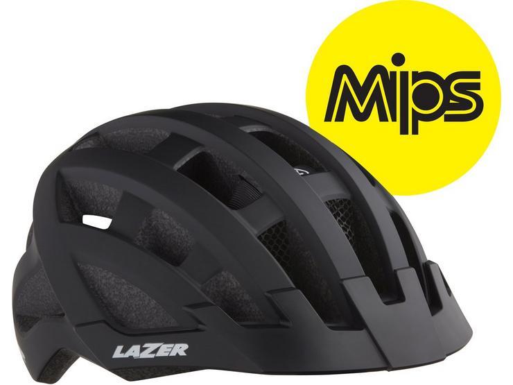 Lazer Compact DLX MIPS Helmet White Adult