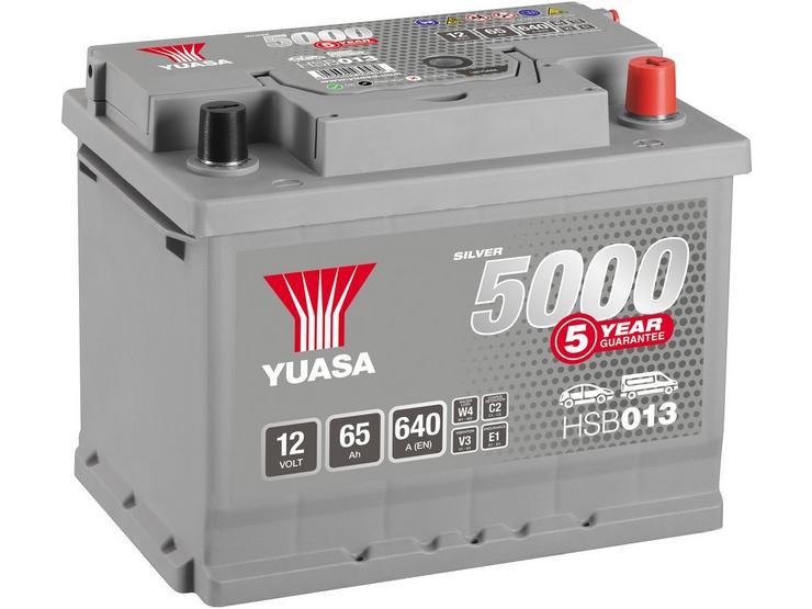 Yuasa HSB013 Silver 12V Car Battery 5 Year Guarantee
